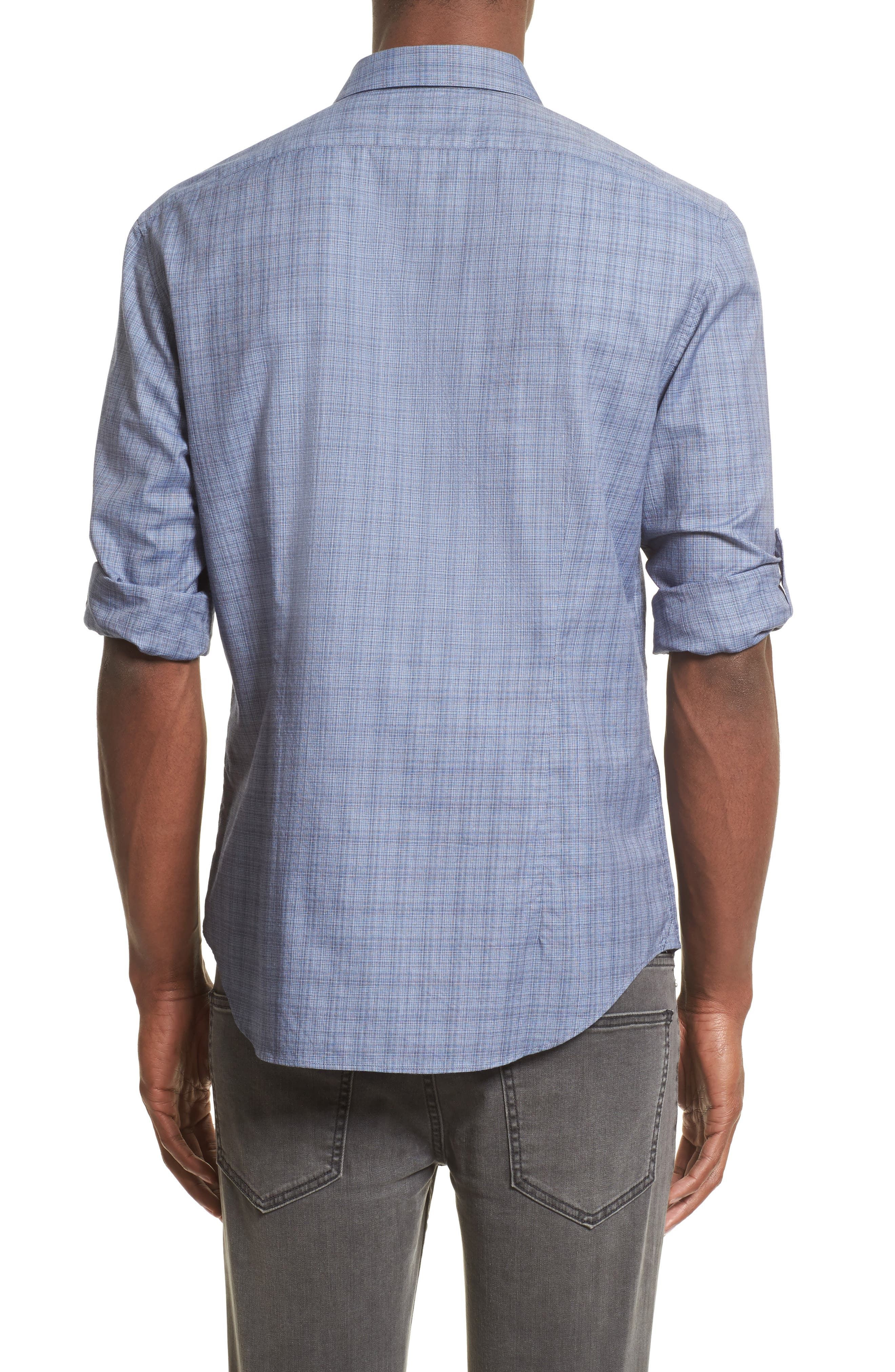 Moiré Check Sport Shirt,                             Alternate thumbnail 2, color,                             448