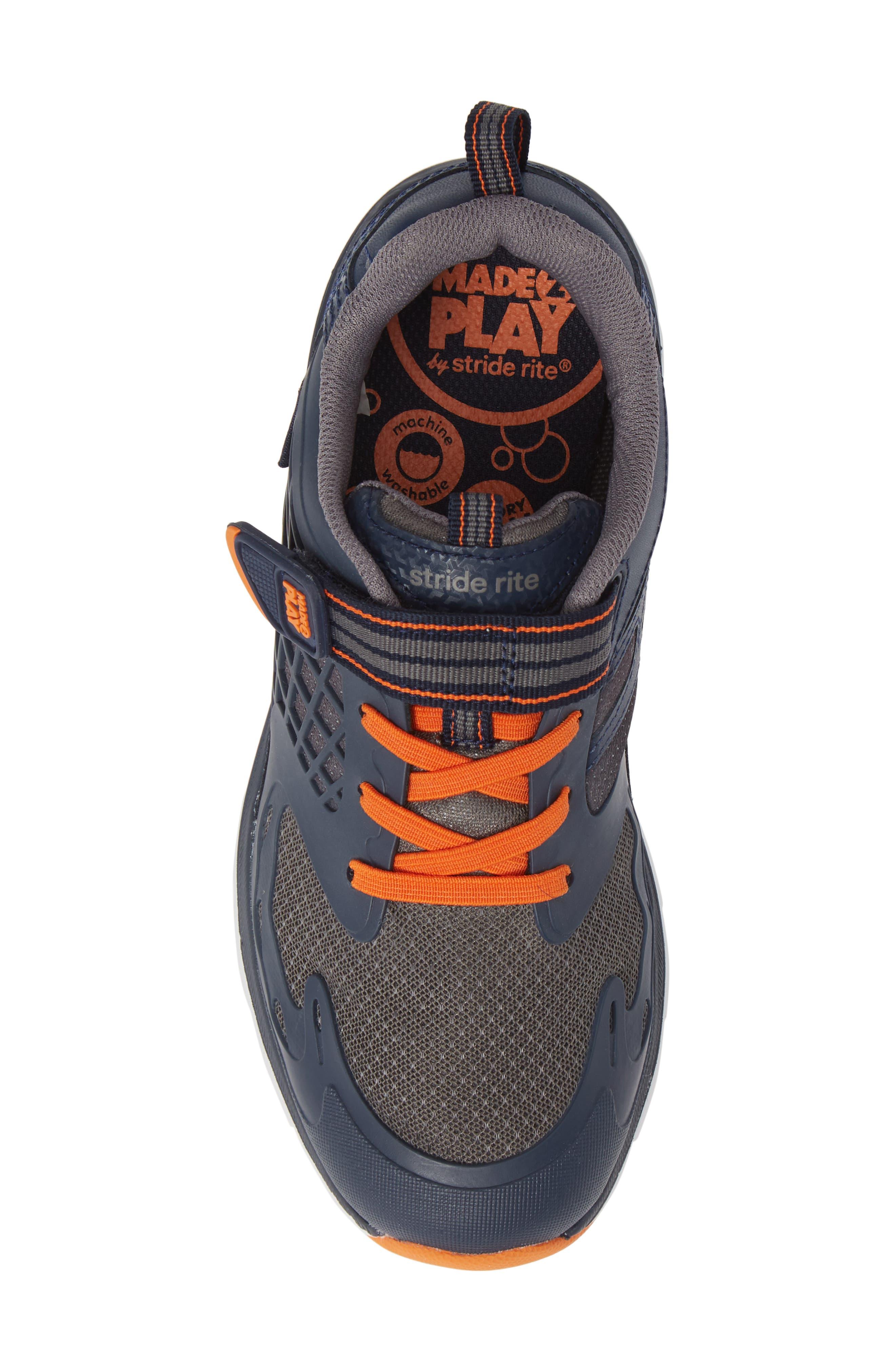 Made 2 Play Breccen Sneaker,                             Alternate thumbnail 5, color,                             NAVY/ ORANGE