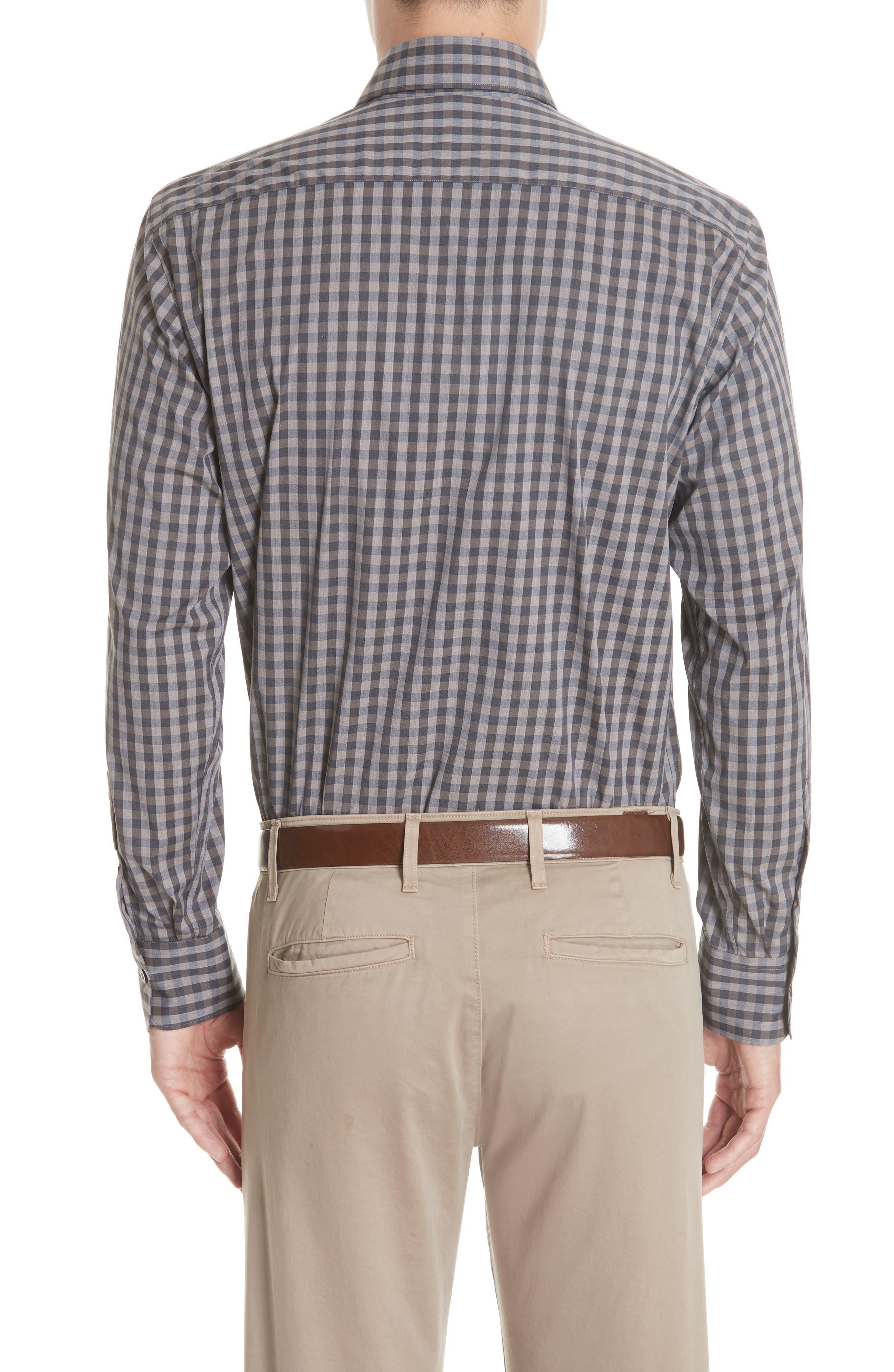 Regular Fit Stretch Check Sport Shirt,                             Alternate thumbnail 3, color,                             200