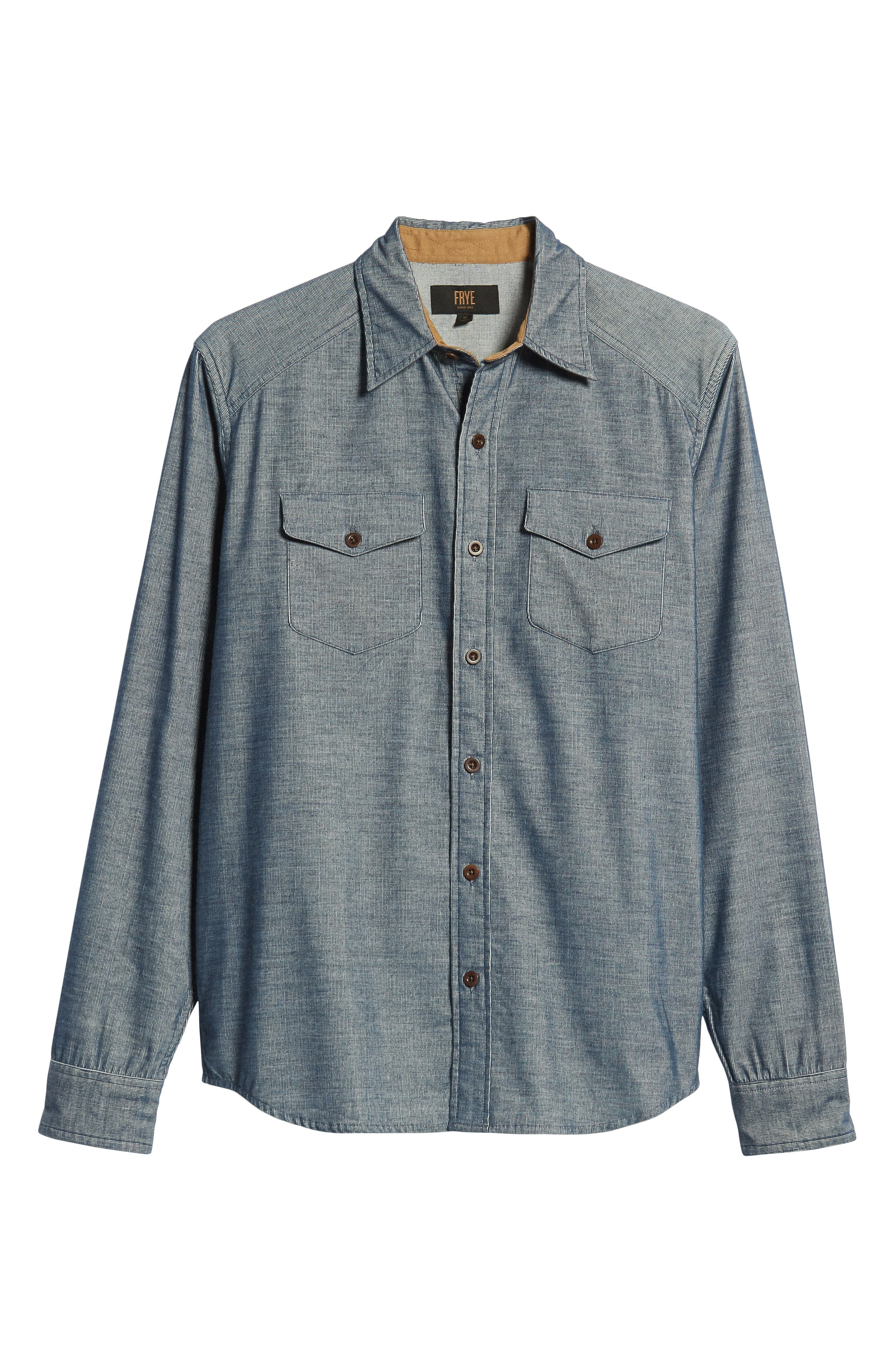 John Addison Engineer Shirt,                             Alternate thumbnail 5, color,                             BLUE HEATHER
