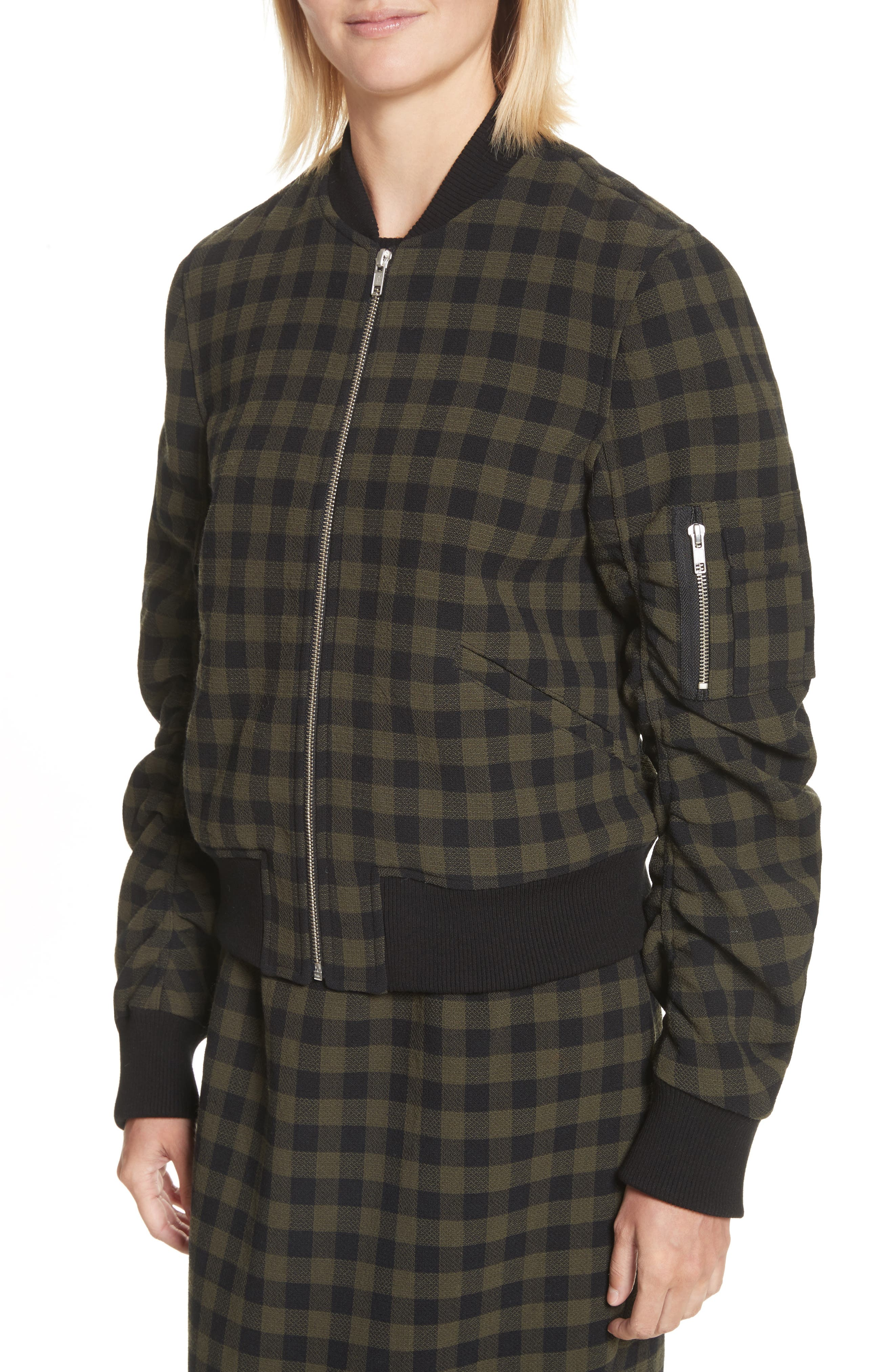 A..L.C. Andrew Wool Bomber Jacket,                             Alternate thumbnail 4, color,                             340