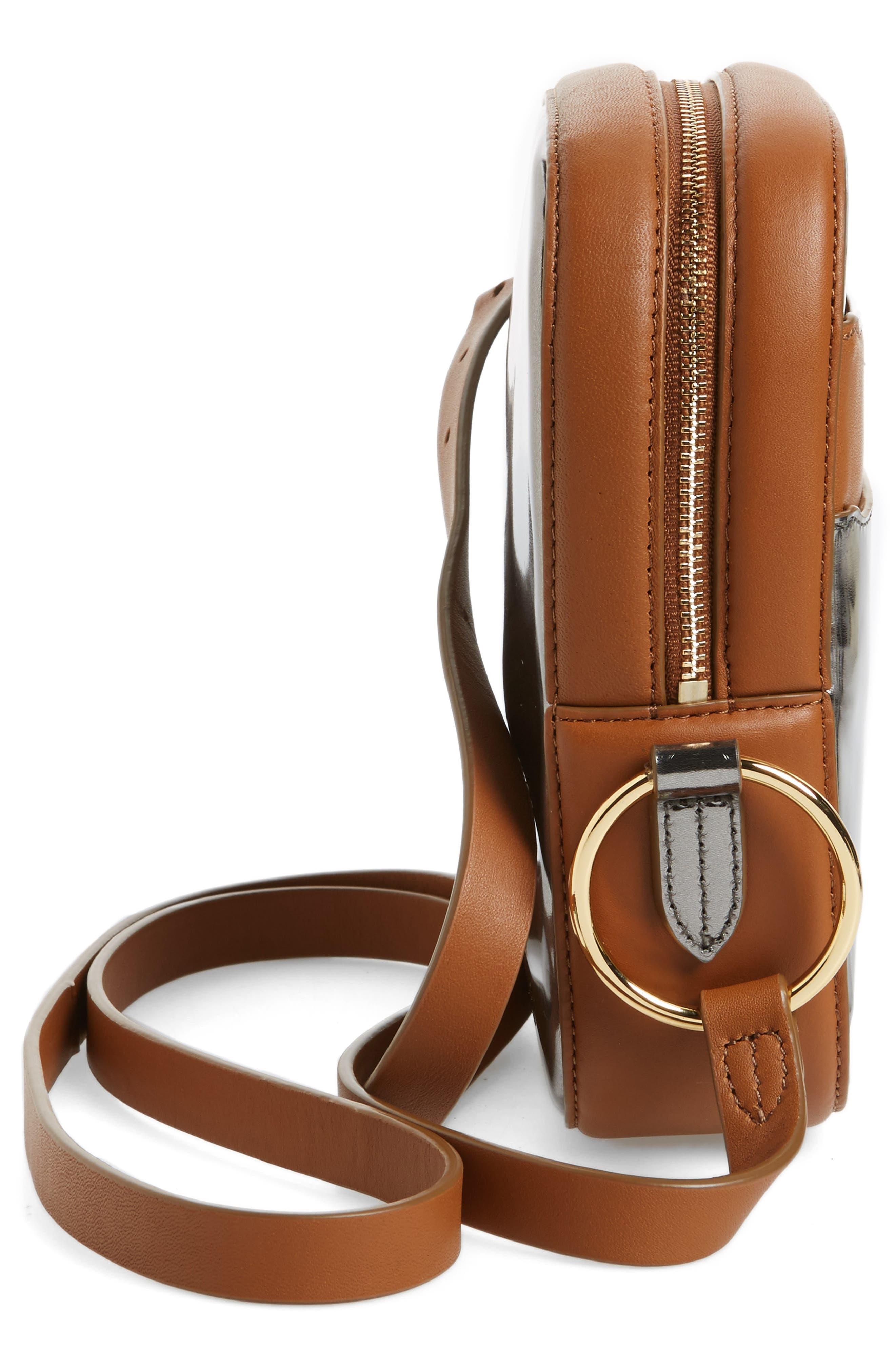 Specchio Leather Camera Bag,                             Alternate thumbnail 5, color,                             040