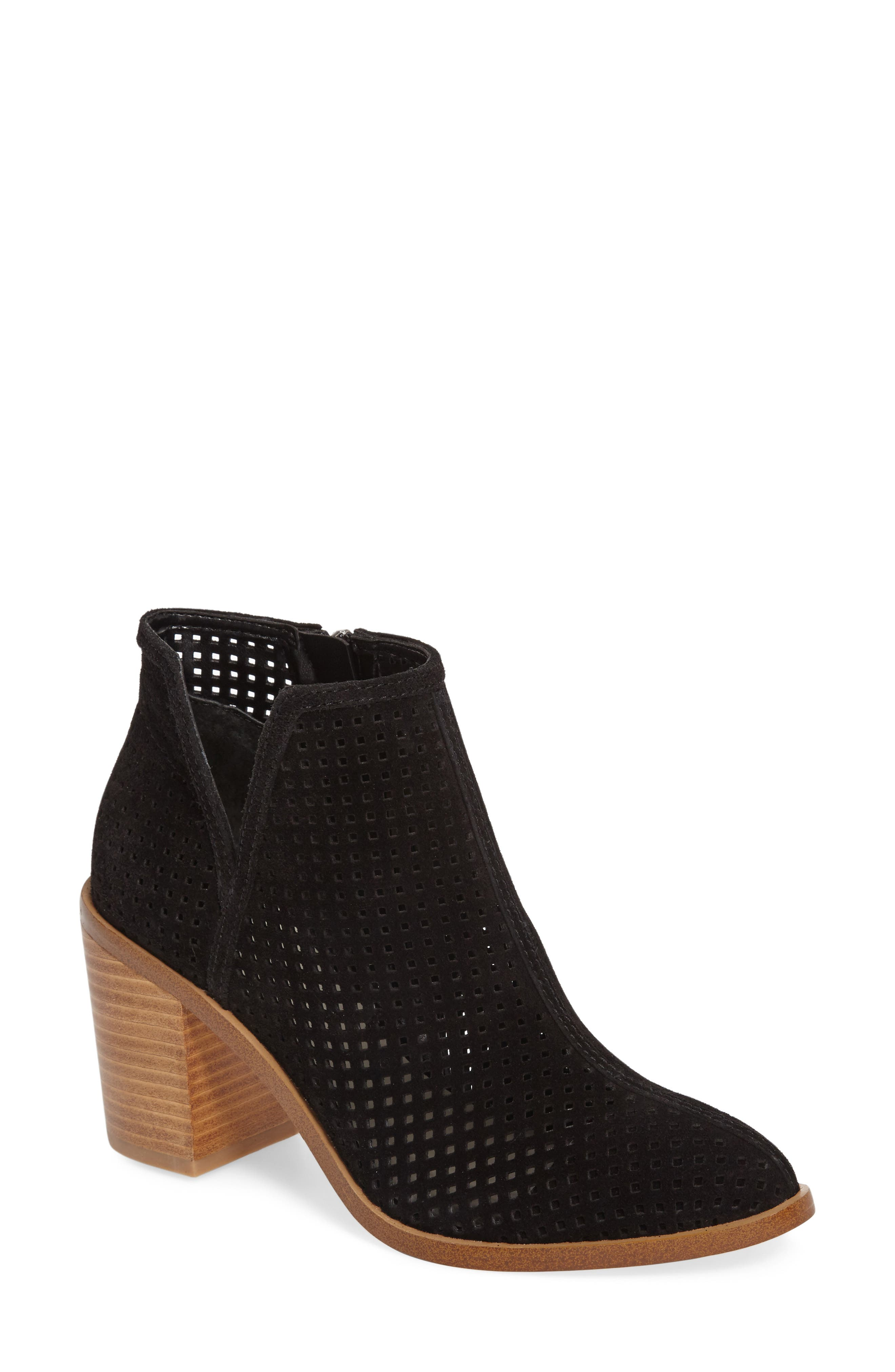 1. STATE Larocka Perforated Bootie,                             Main thumbnail 1, color,                             001