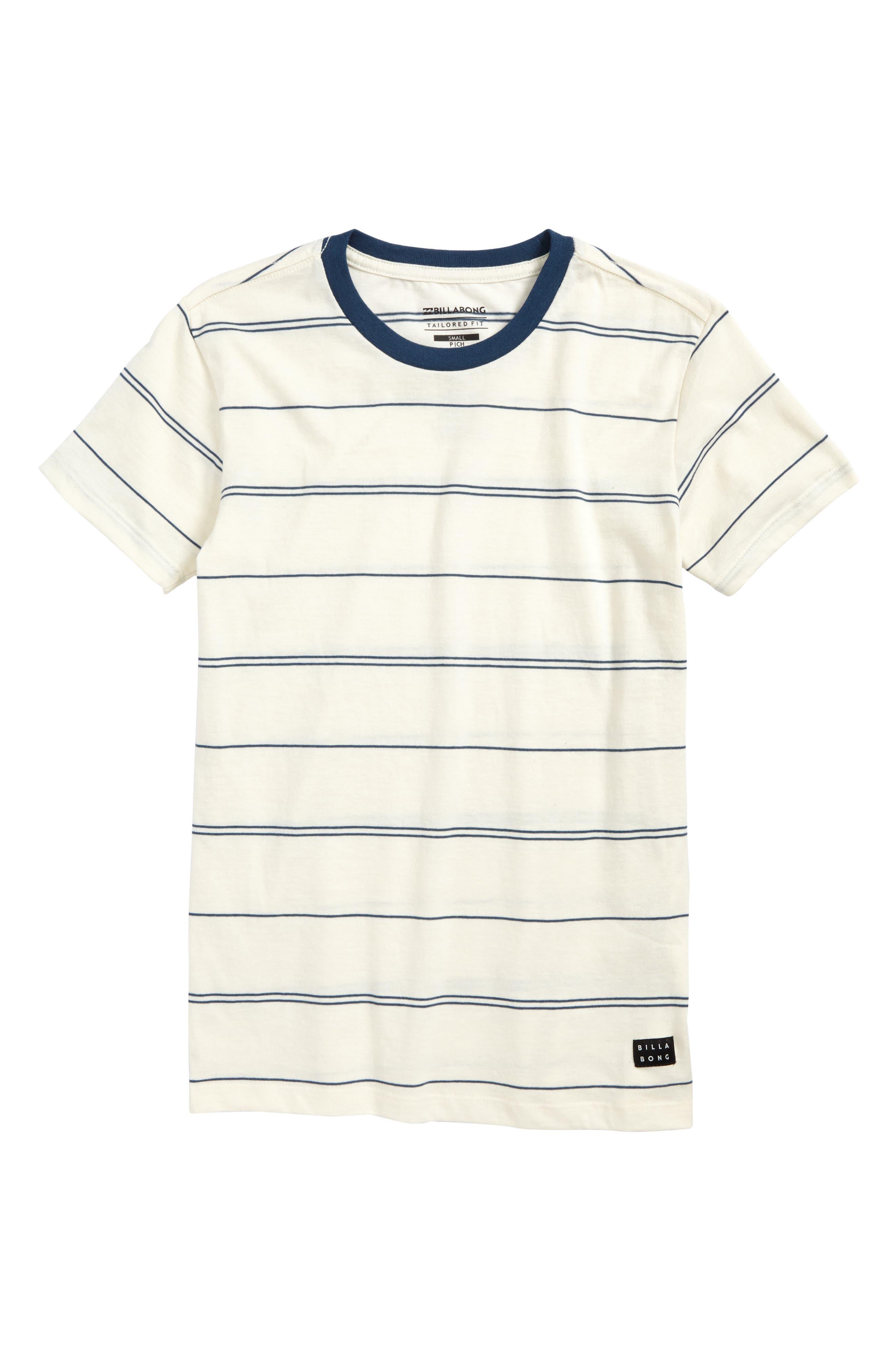 Die Cut Stripe Ringer T-Shirt,                         Main,                         color,