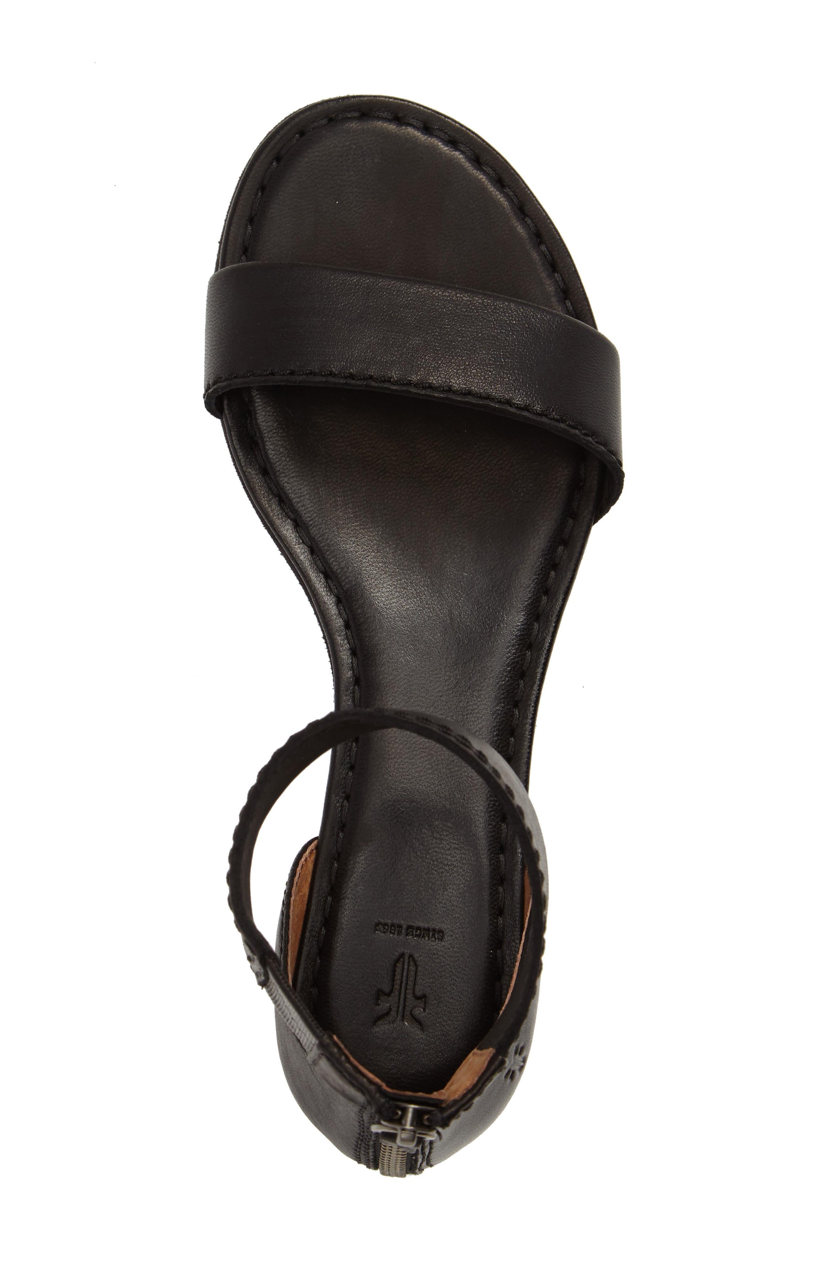 Carson Ankle Strap Sandal,                             Alternate thumbnail 5, color,                             001
