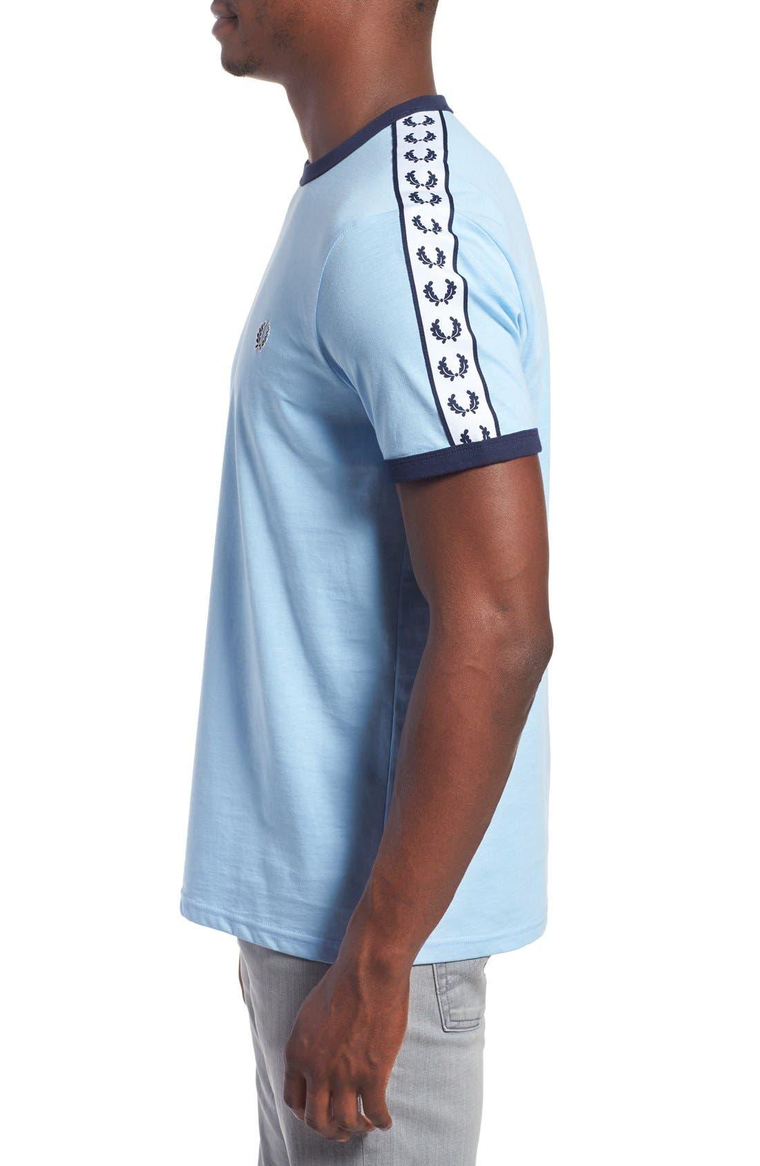Extra Trim Fit Cotton Ringer T-Shirt,                             Alternate thumbnail 21, color,