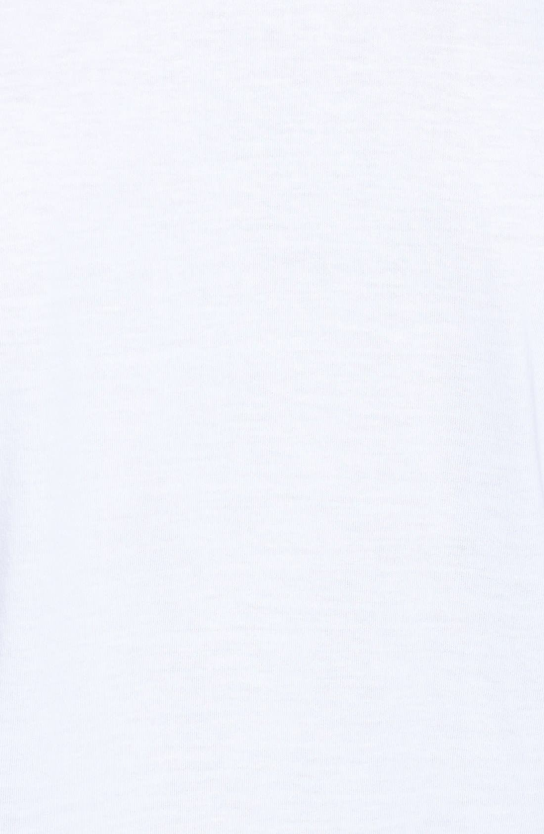 4-Pack Regular Fit Supima<sup>®</sup> Cotton V-Neck T-Shirts,                             Alternate thumbnail 9, color,                             WHITE