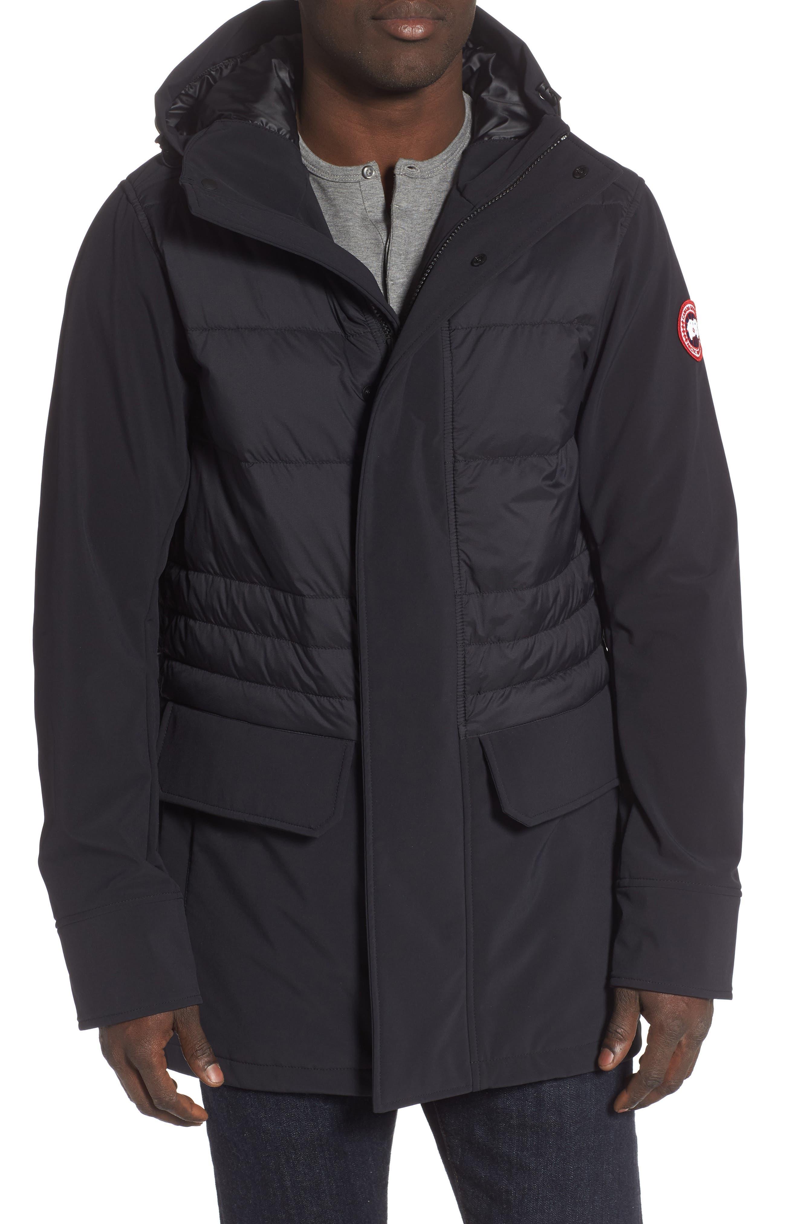 CANADA GOOSE,                             Breton 675-Fill Power Down Coat,                             Main thumbnail 1, color,                             BLACK
