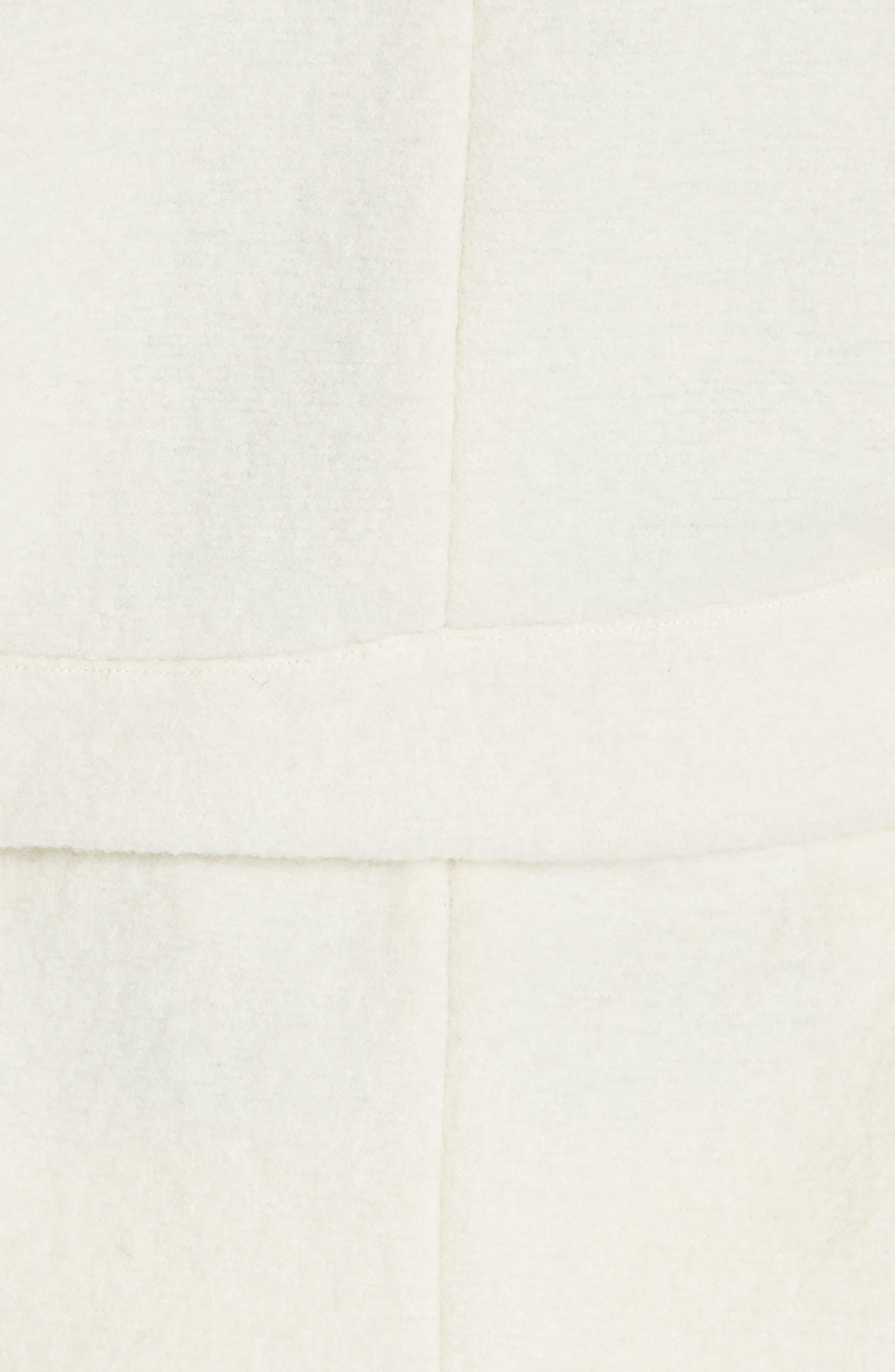 Clif Belted Wool Coat,                             Alternate thumbnail 6, color,                             ECRU