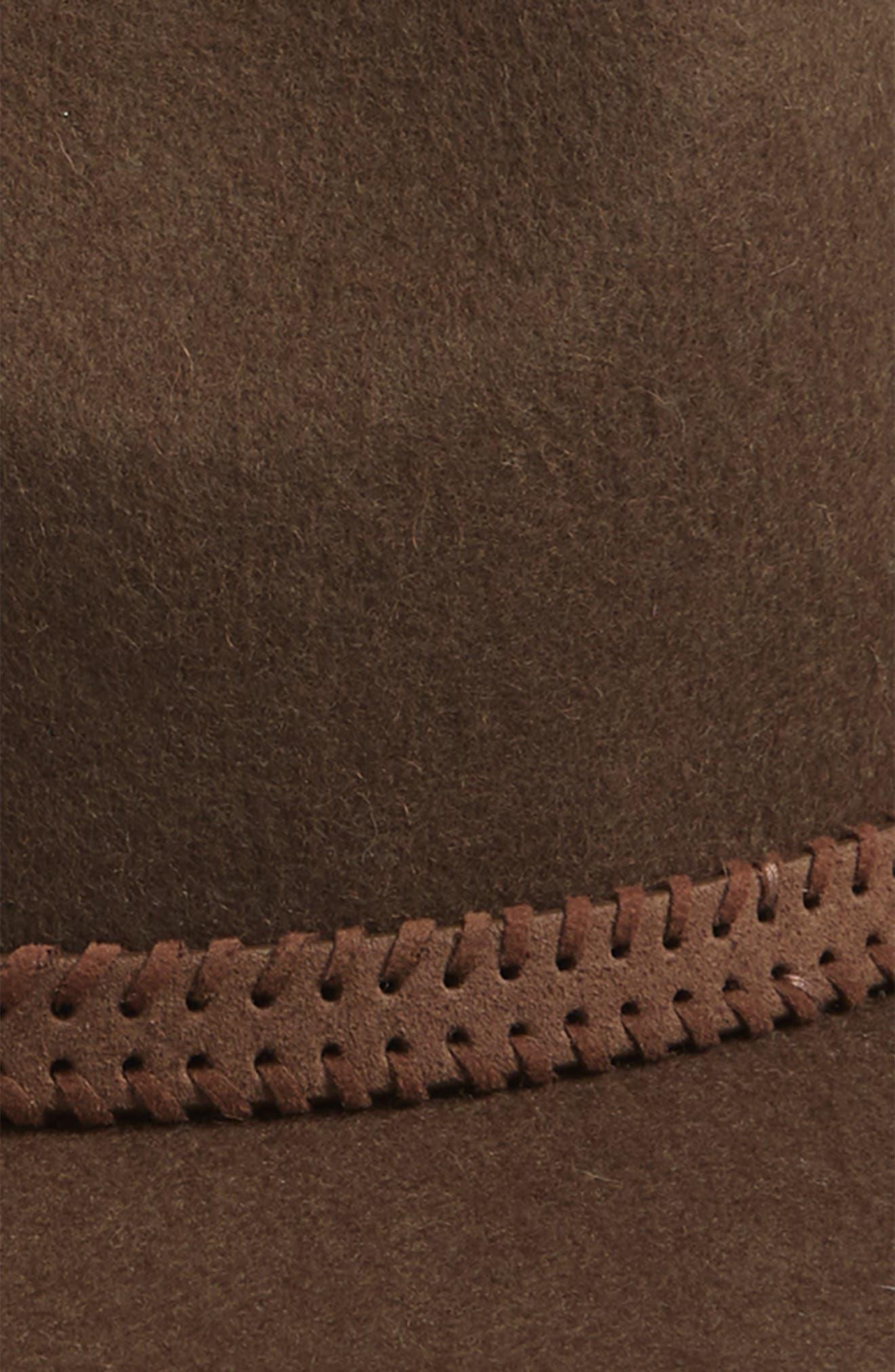 Felt Panama Hat,                             Alternate thumbnail 3, color,                             DARK TAUPE