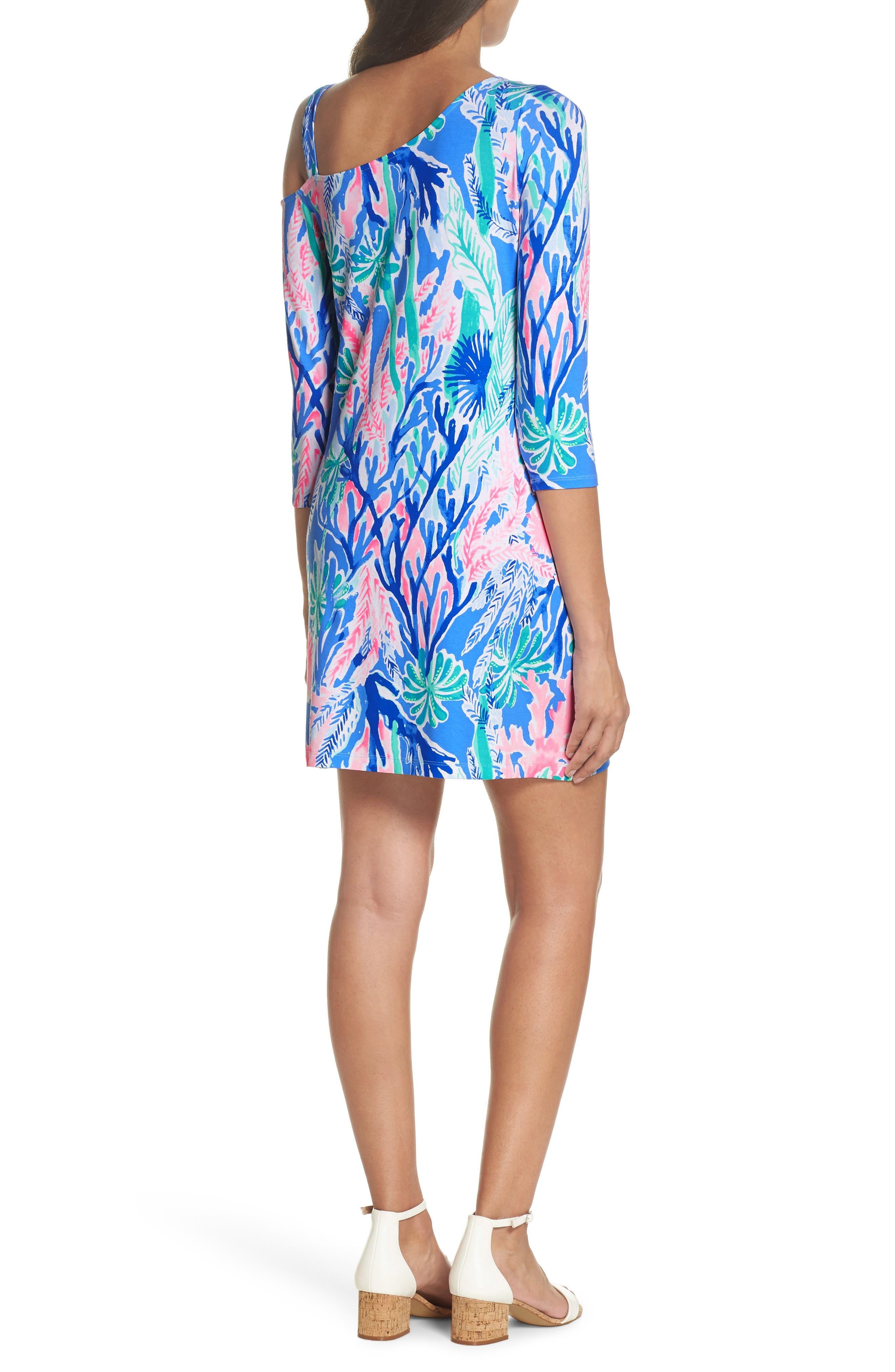One-Shoulder Minidress,                             Alternate thumbnail 2, color,                             400