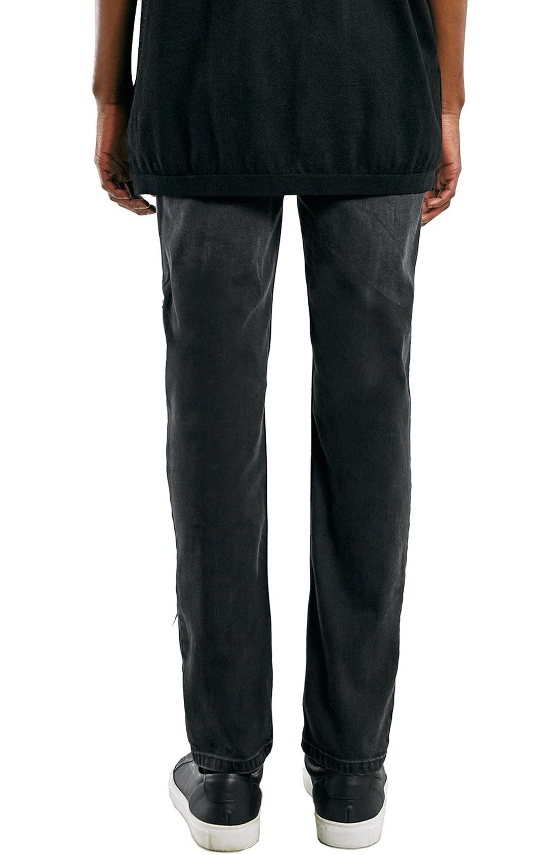 'AAA Collection' Shredded Stretch Skinny Fit Jeans,                             Alternate thumbnail 3, color,                             001