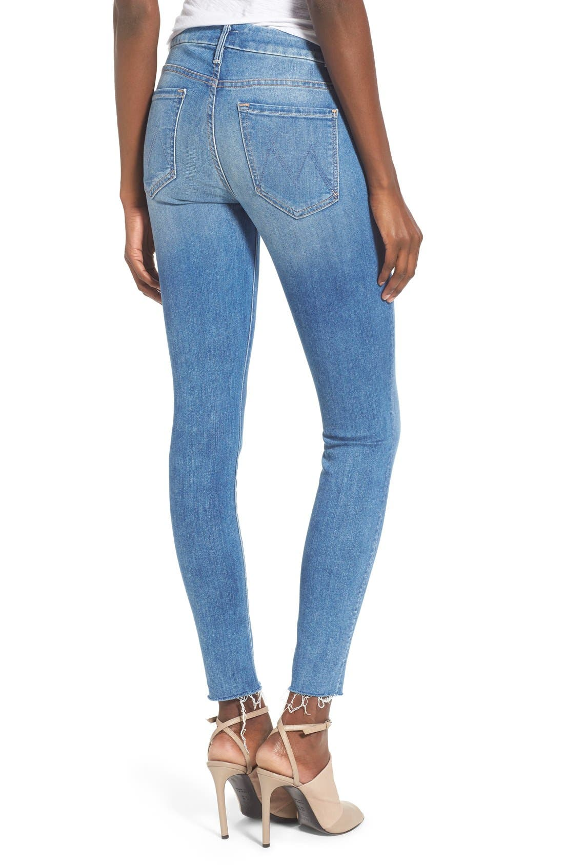 'The Looker' Fray Ankle Jeans,                             Alternate thumbnail 7, color,                             BIRDS OF PARADISE