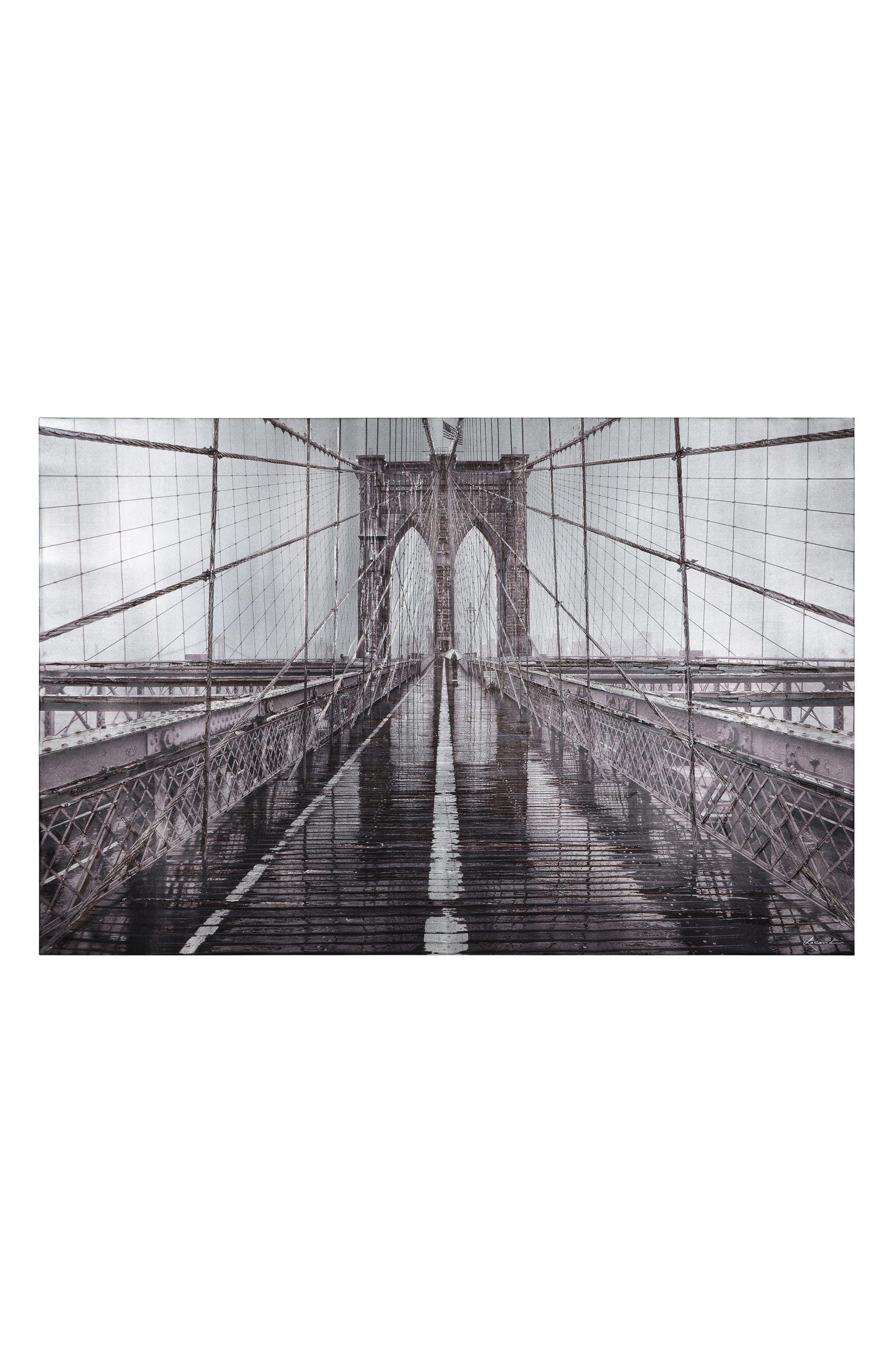 RENWIL,                             Iconic Brooklyn Bridge Canvas Wall Art,                             Main thumbnail 1, color,                             MULTICOLOR
