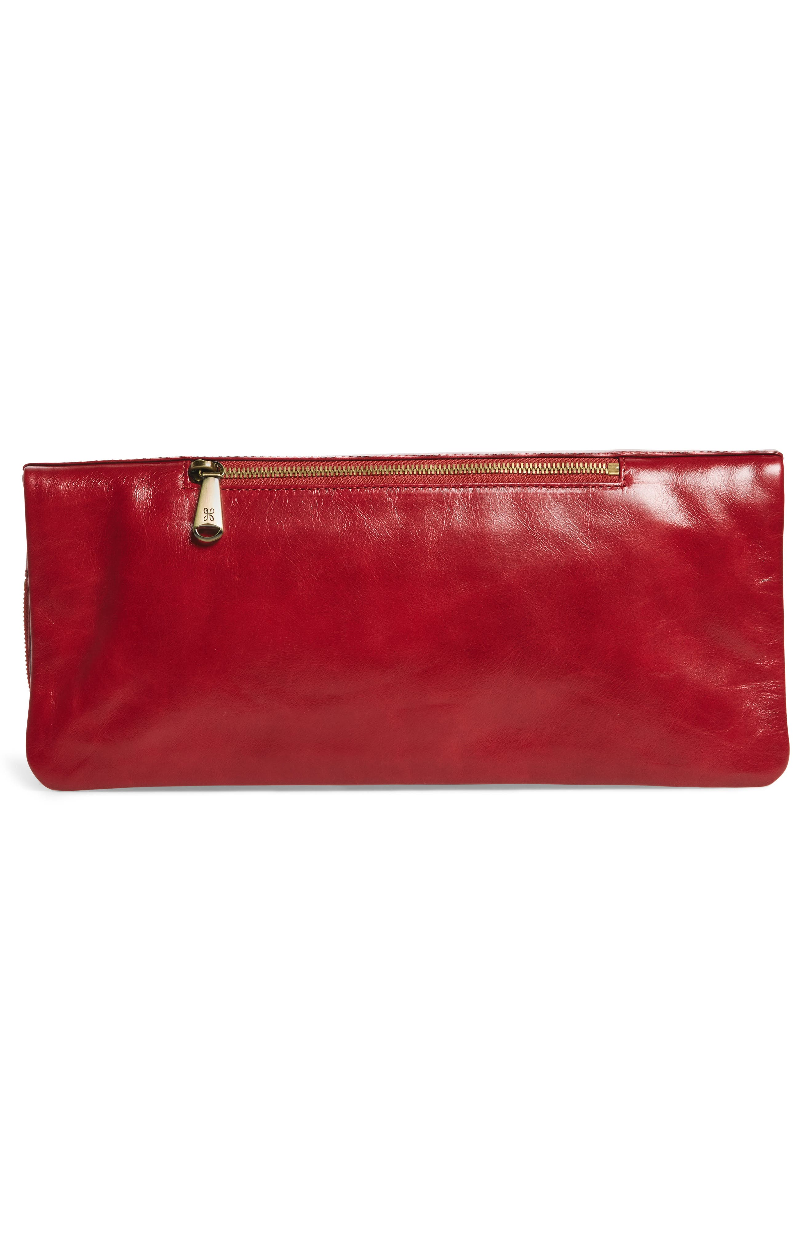 Raine Calfskin Leather Foldover Clutch,                             Alternate thumbnail 12, color,