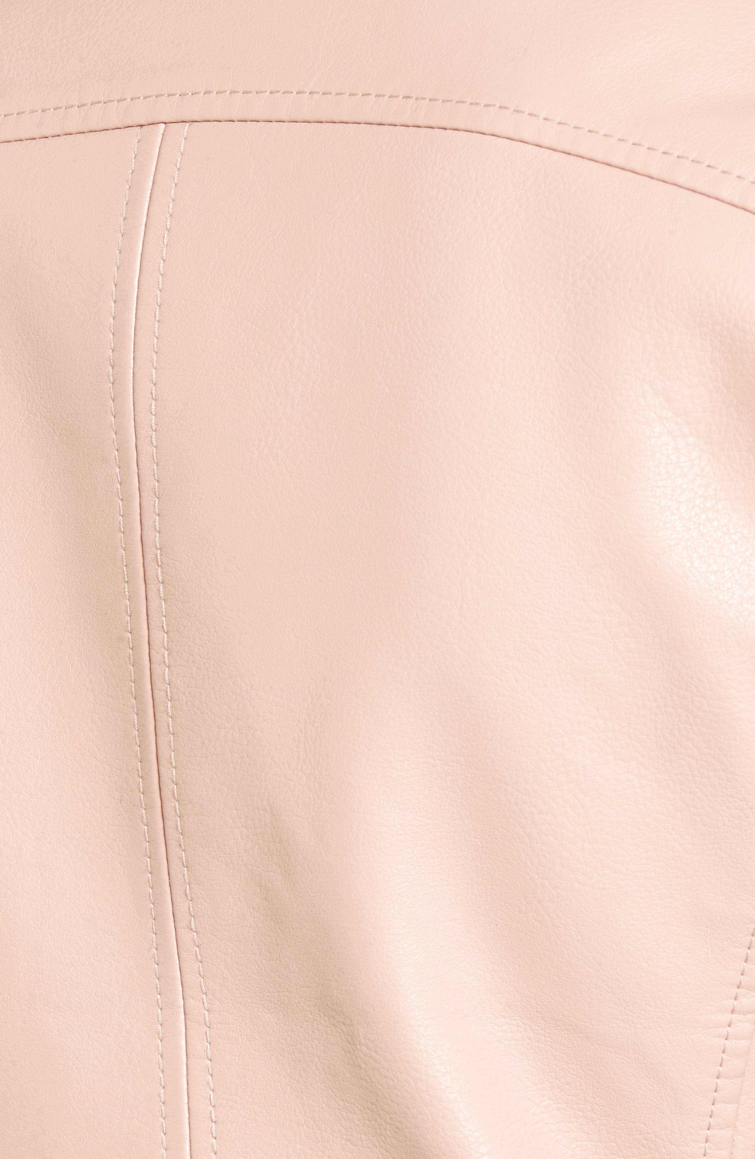 Faux Leather Moto Jacket,                             Alternate thumbnail 6, color,                             BLUSHING HARD