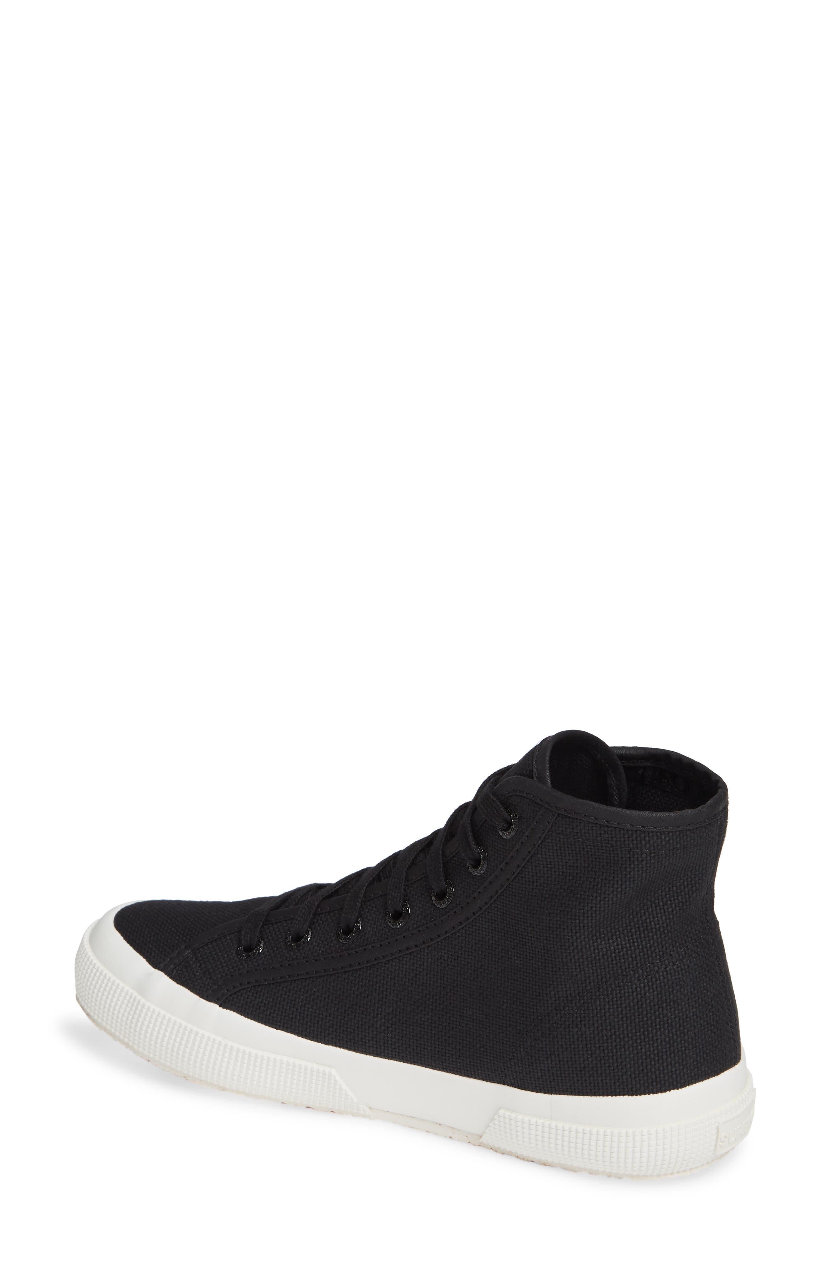 2795 High Top Sneaker,                             Alternate thumbnail 2, color,                             BLACK/ WHITE