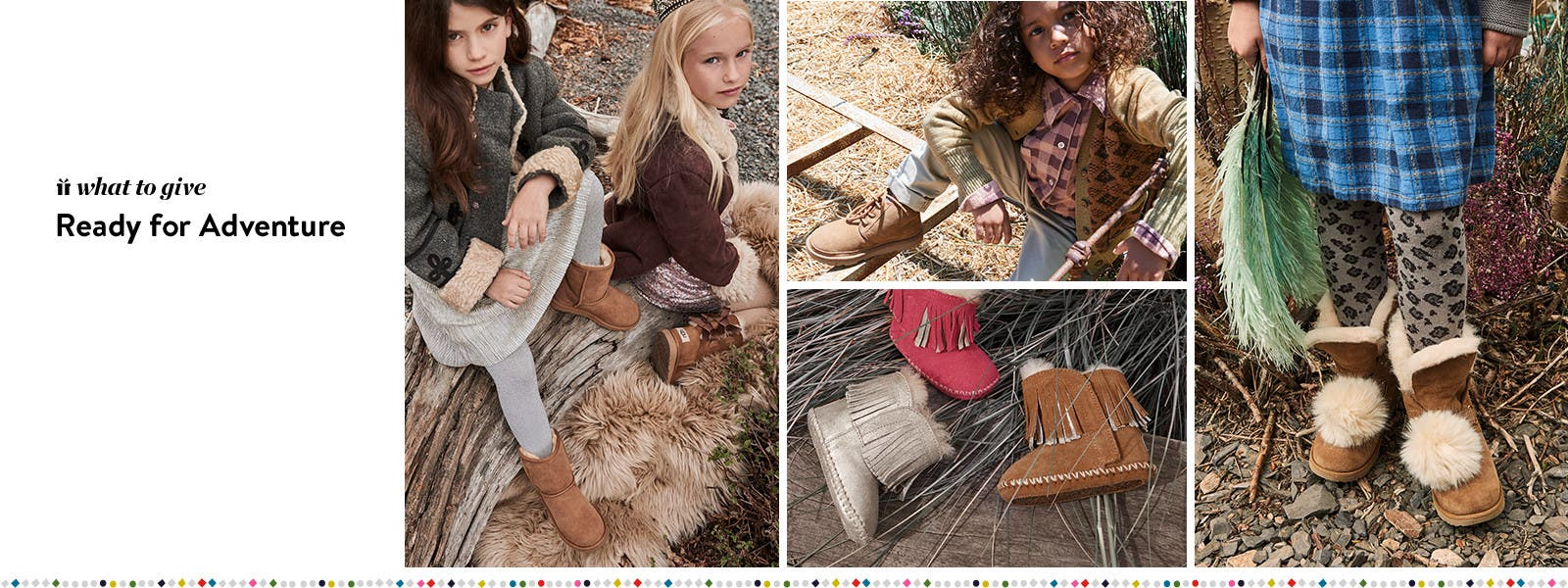 Ready for adventure: UGG boots and UGG slippers for kids.