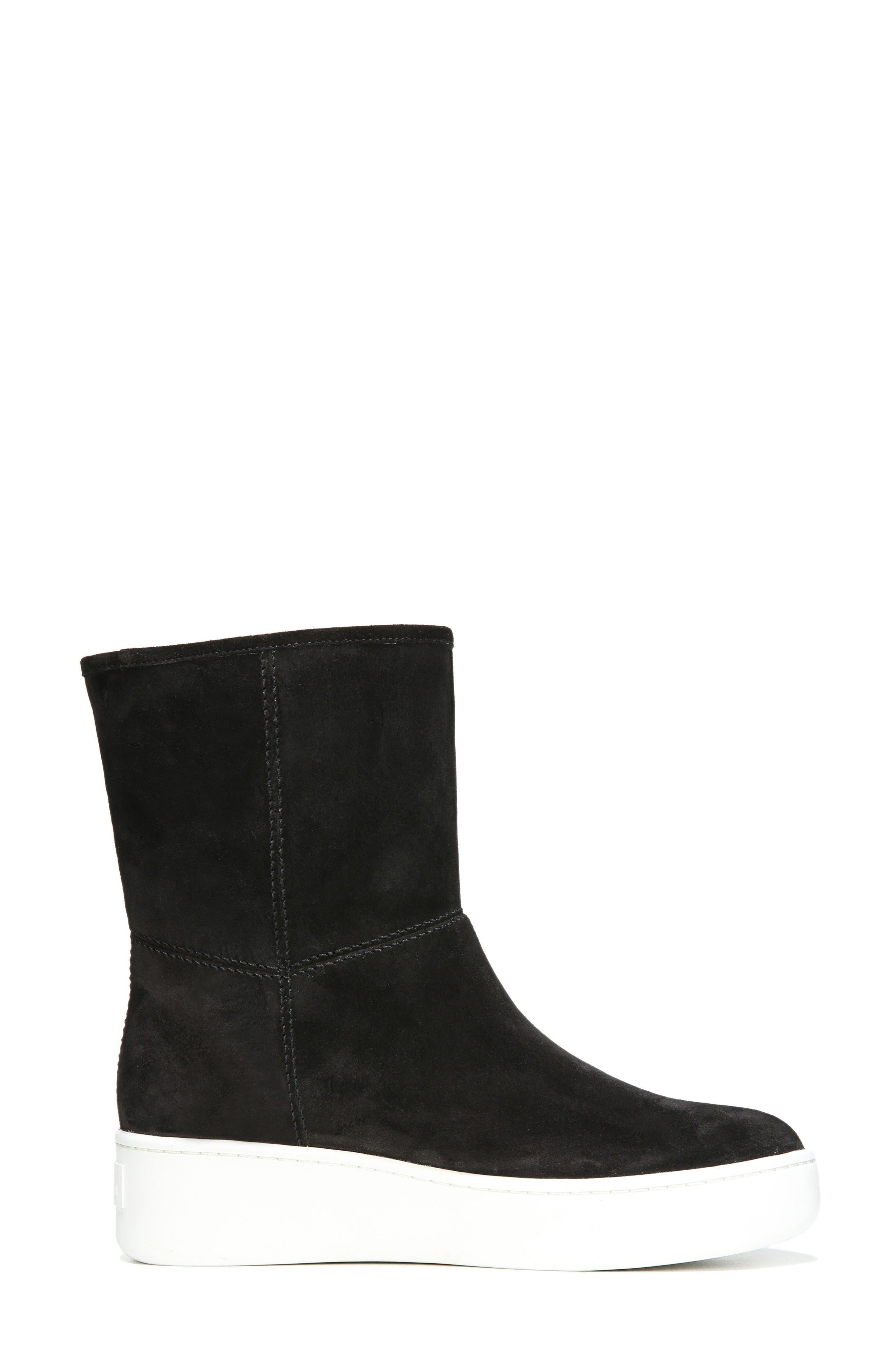 Elona Genuine Shearling Lined Sneaker Boot,                             Alternate thumbnail 3, color,                             001