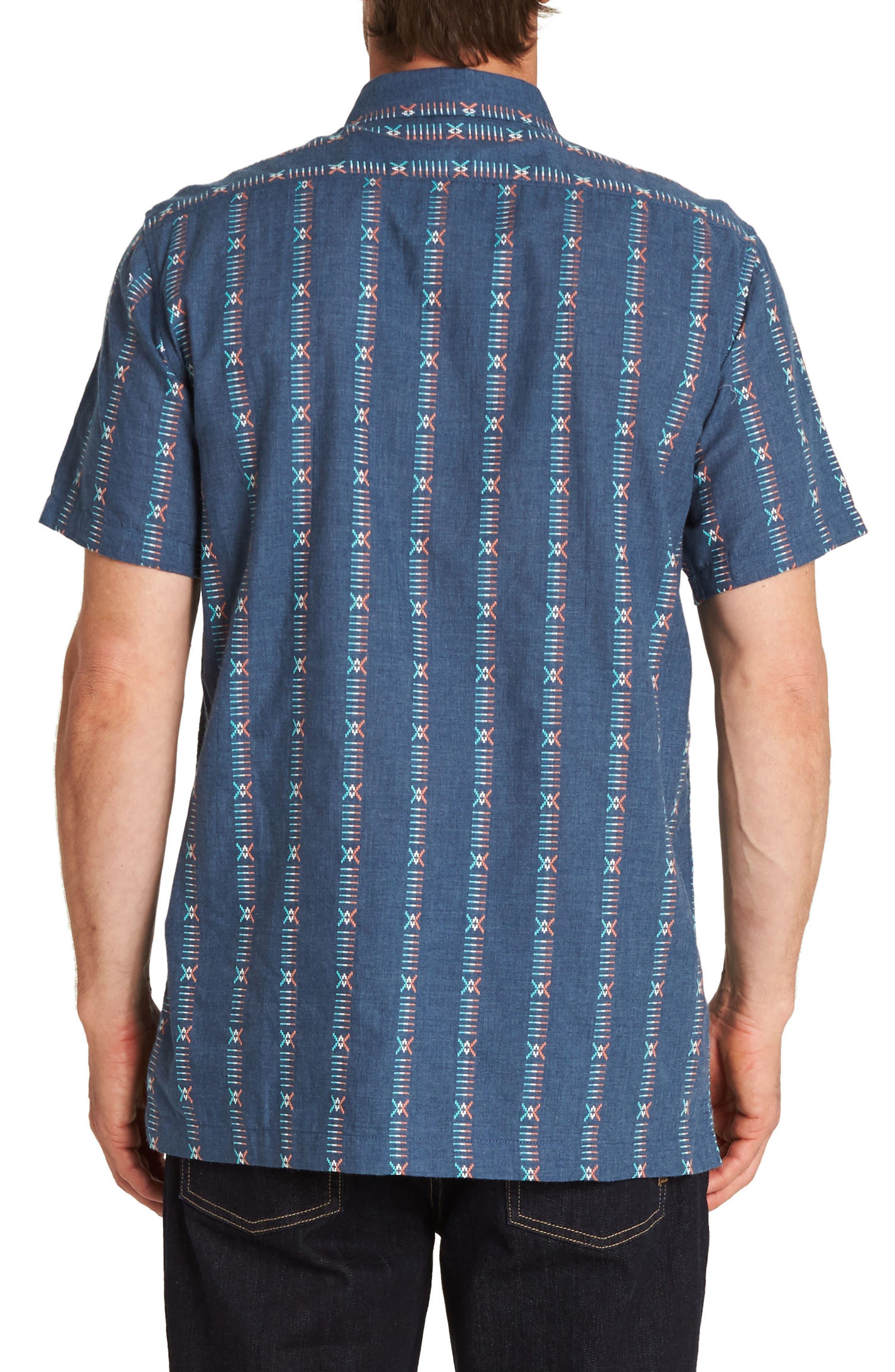 Sundays Jacquard Woven Shirt,                             Alternate thumbnail 2, color,                             DENIM BLUE