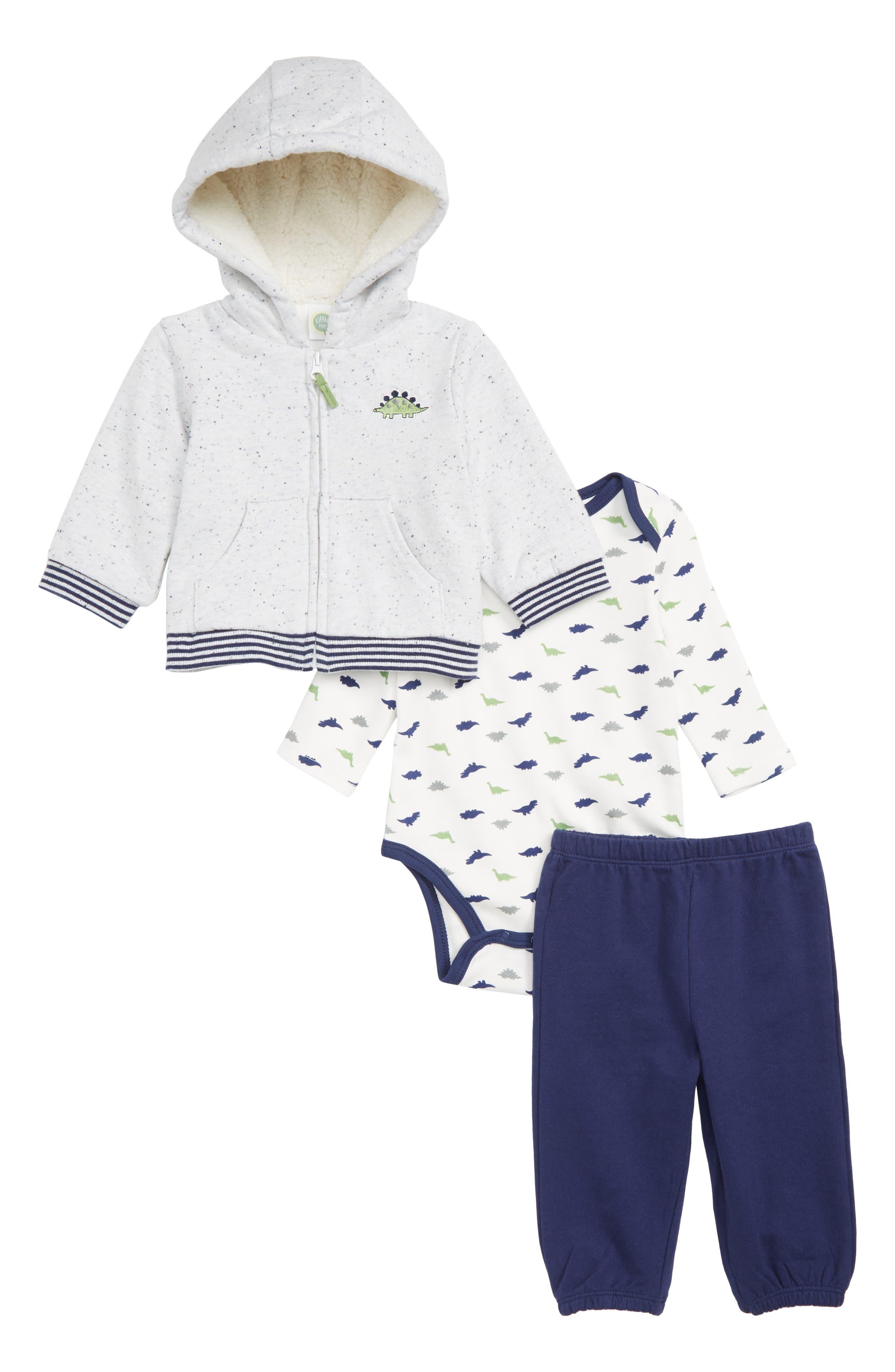 Infant Boys Little Me Dino Hoodie Bodysuit  Pants Set