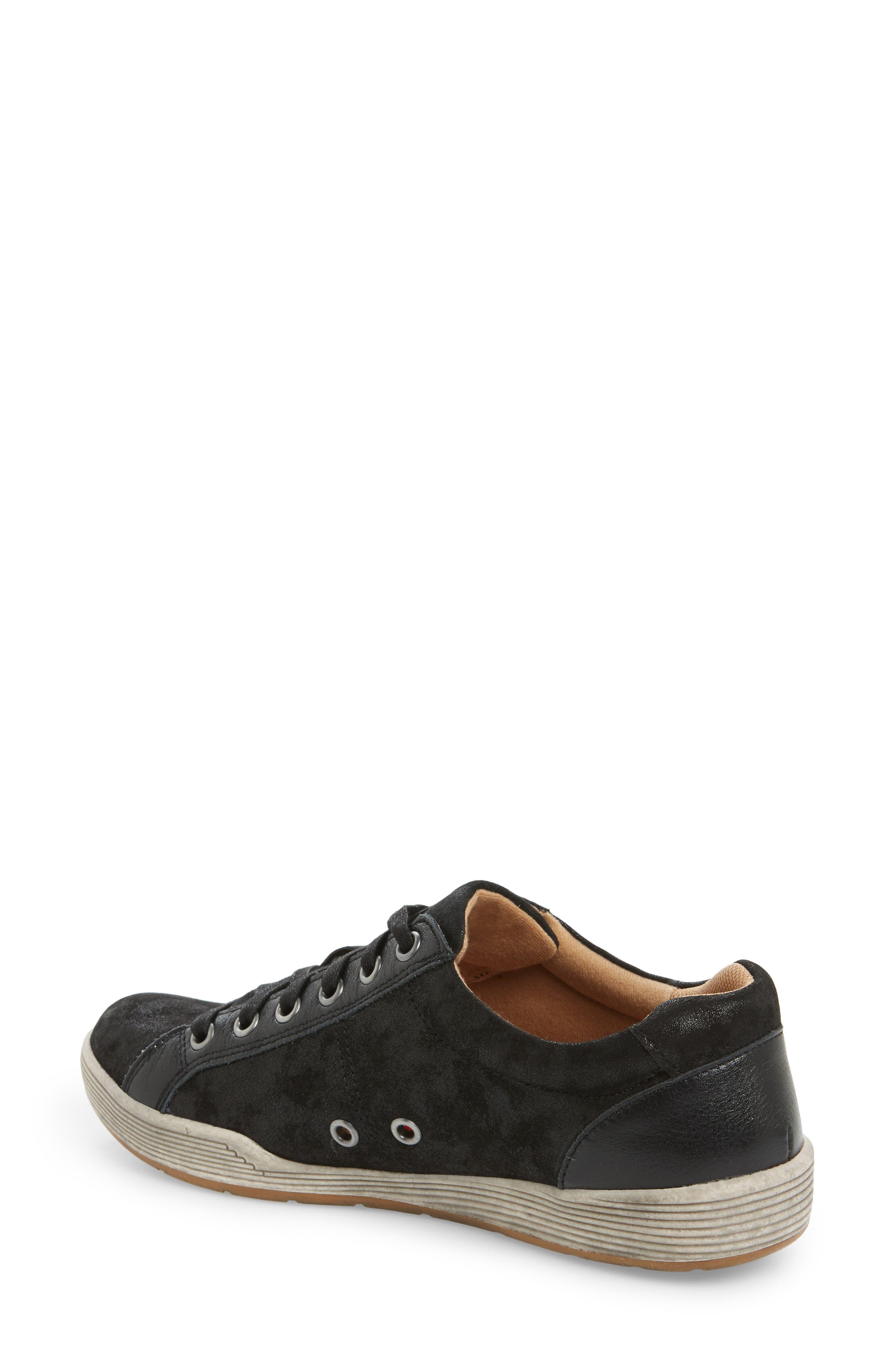 Lyons Low-Top Sneaker,                             Alternate thumbnail 2, color,                             BLACK SUEDE