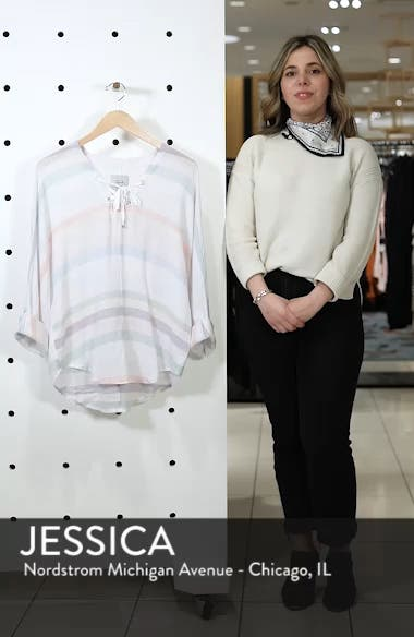 Lily Lace-Up Blouse, sales video thumbnail