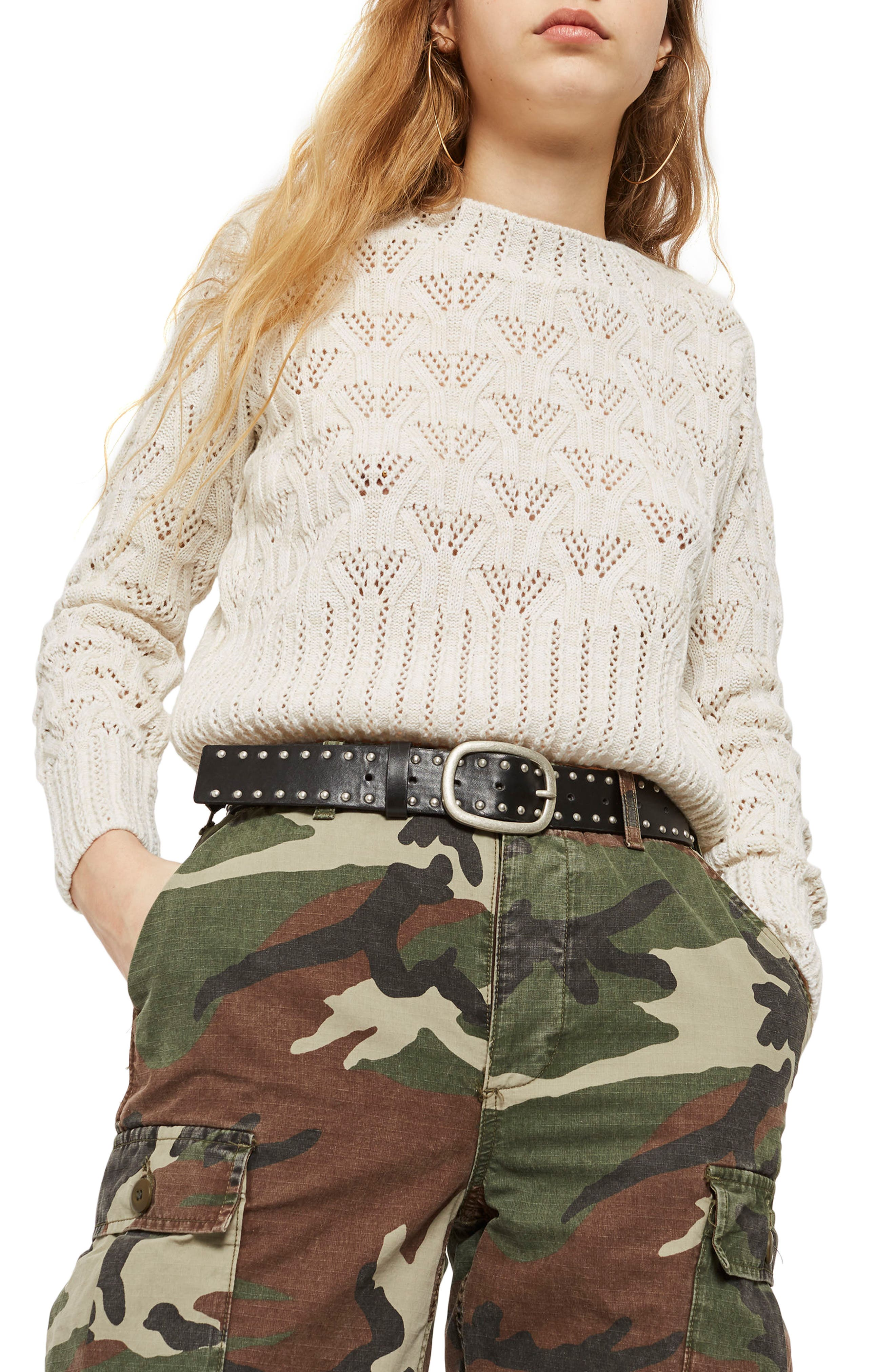 Geo Stitch Sweater,                         Main,                         color, 900