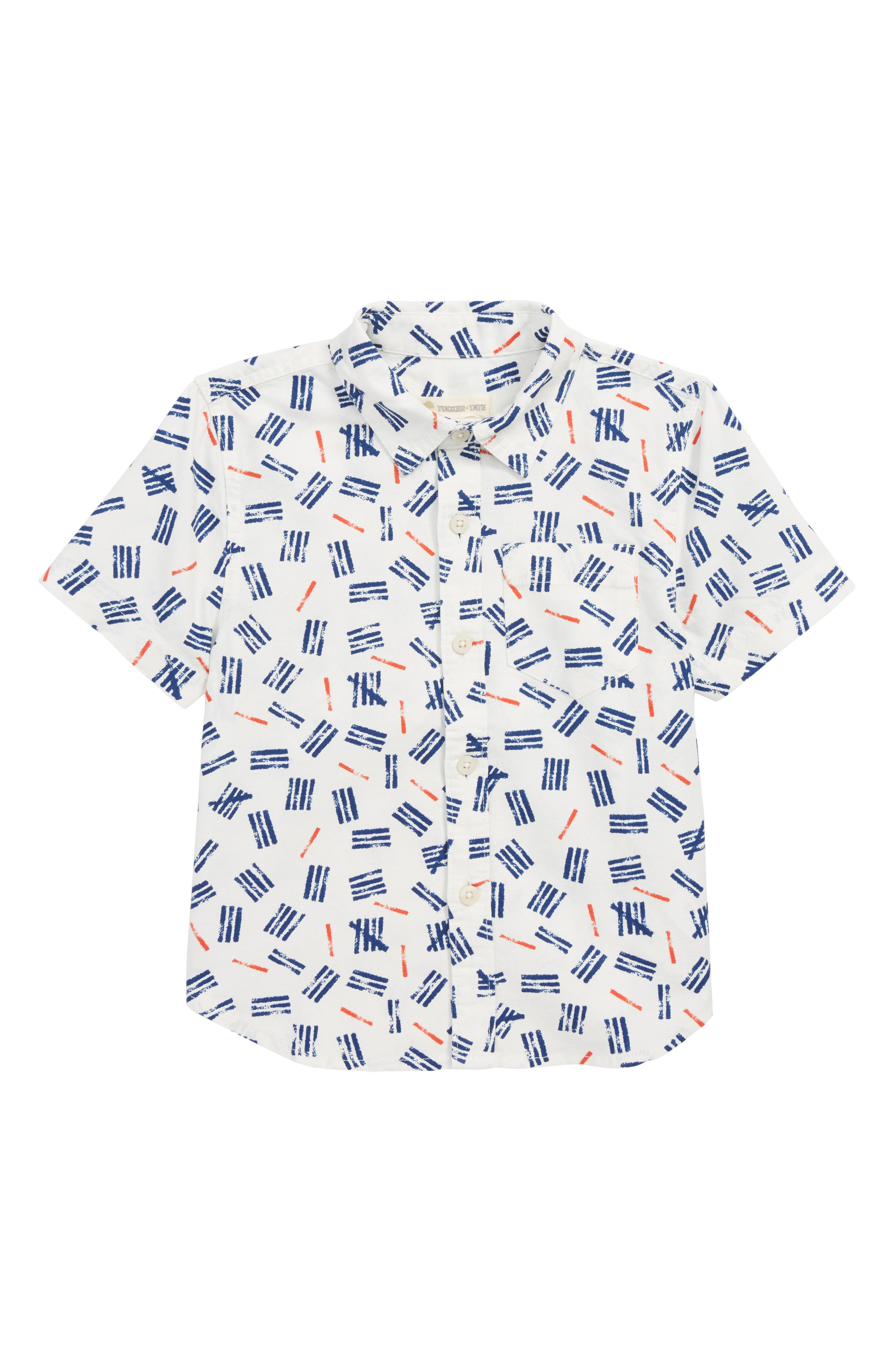 Print Woven Shirt,                         Main,                         color, IVORY EGRET MARKS