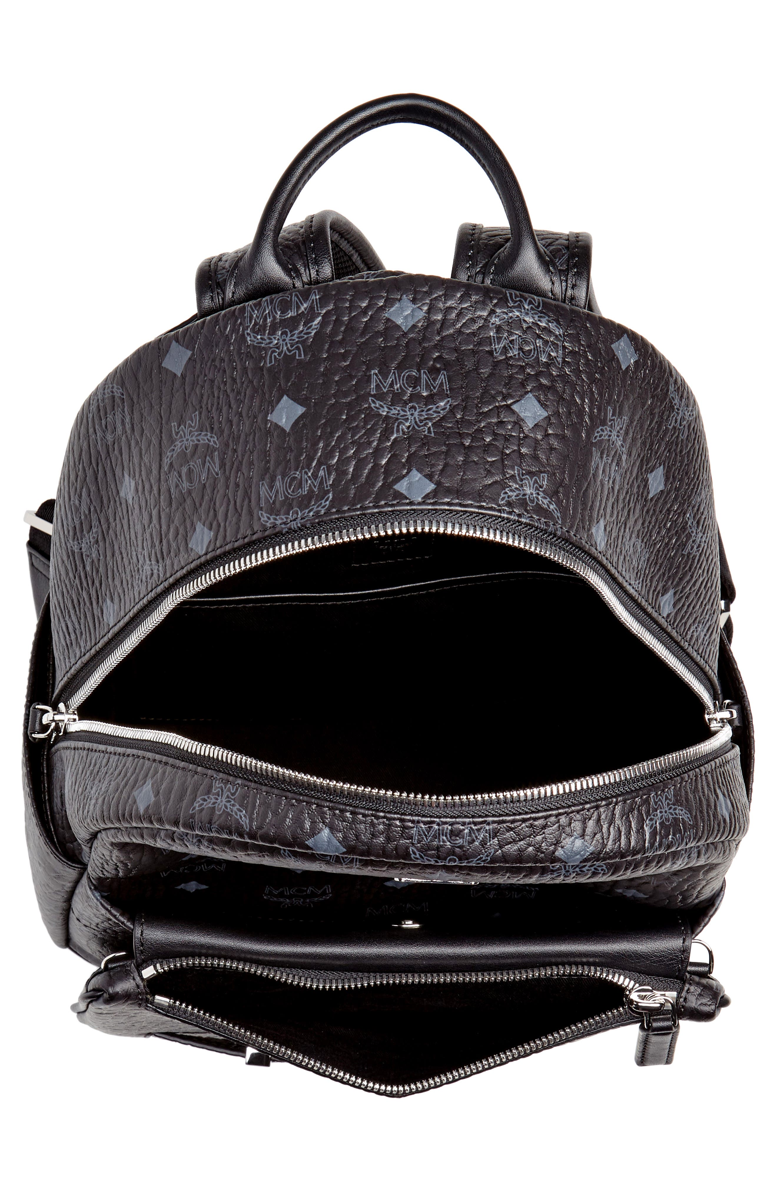 MCM,                             Small Stark Trilogie Canvas Backpack,                             Alternate thumbnail 4, color,                             001