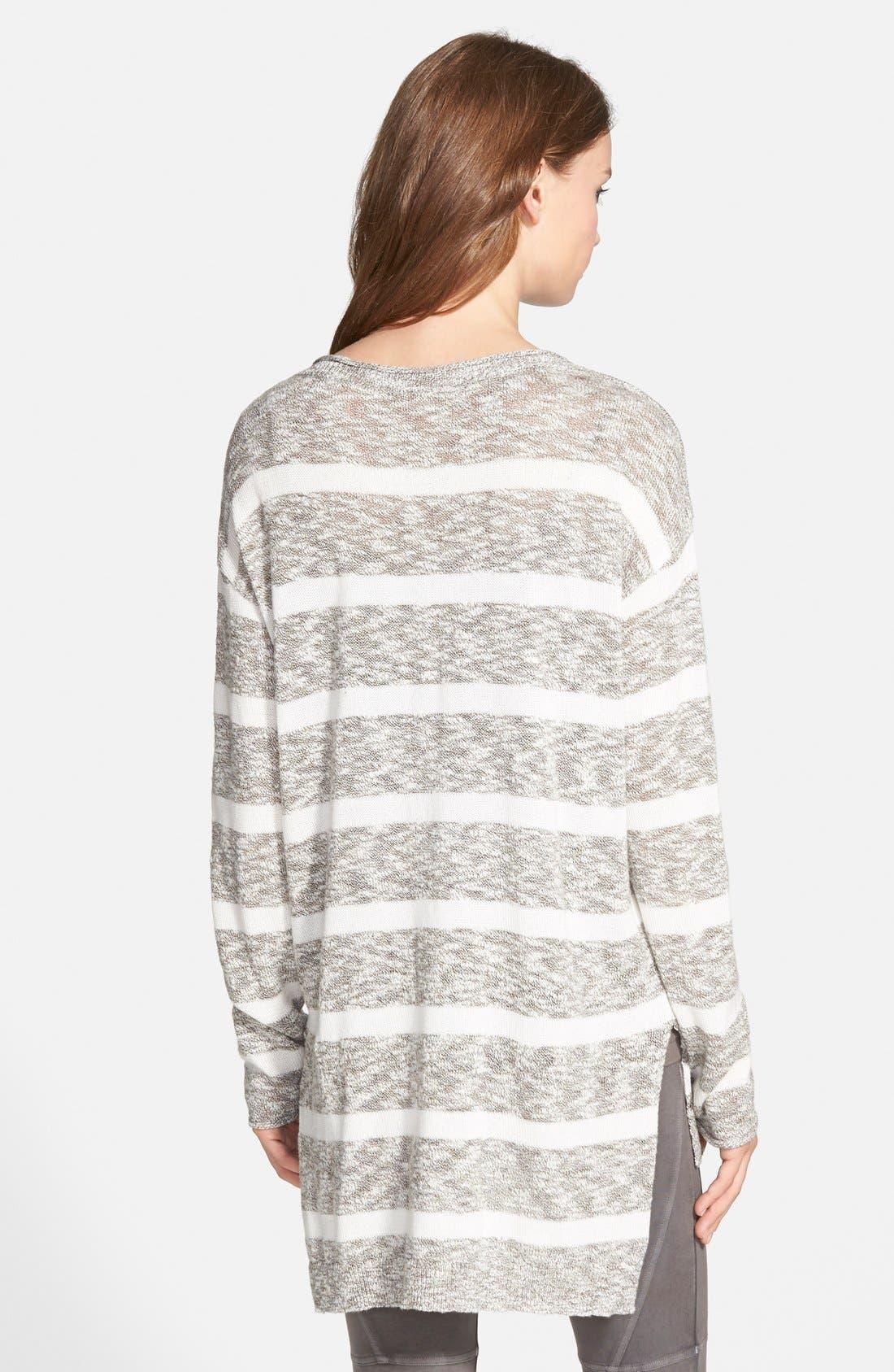BP. Stripe Slub Knit Pullover,                             Alternate thumbnail 2, color,                             001