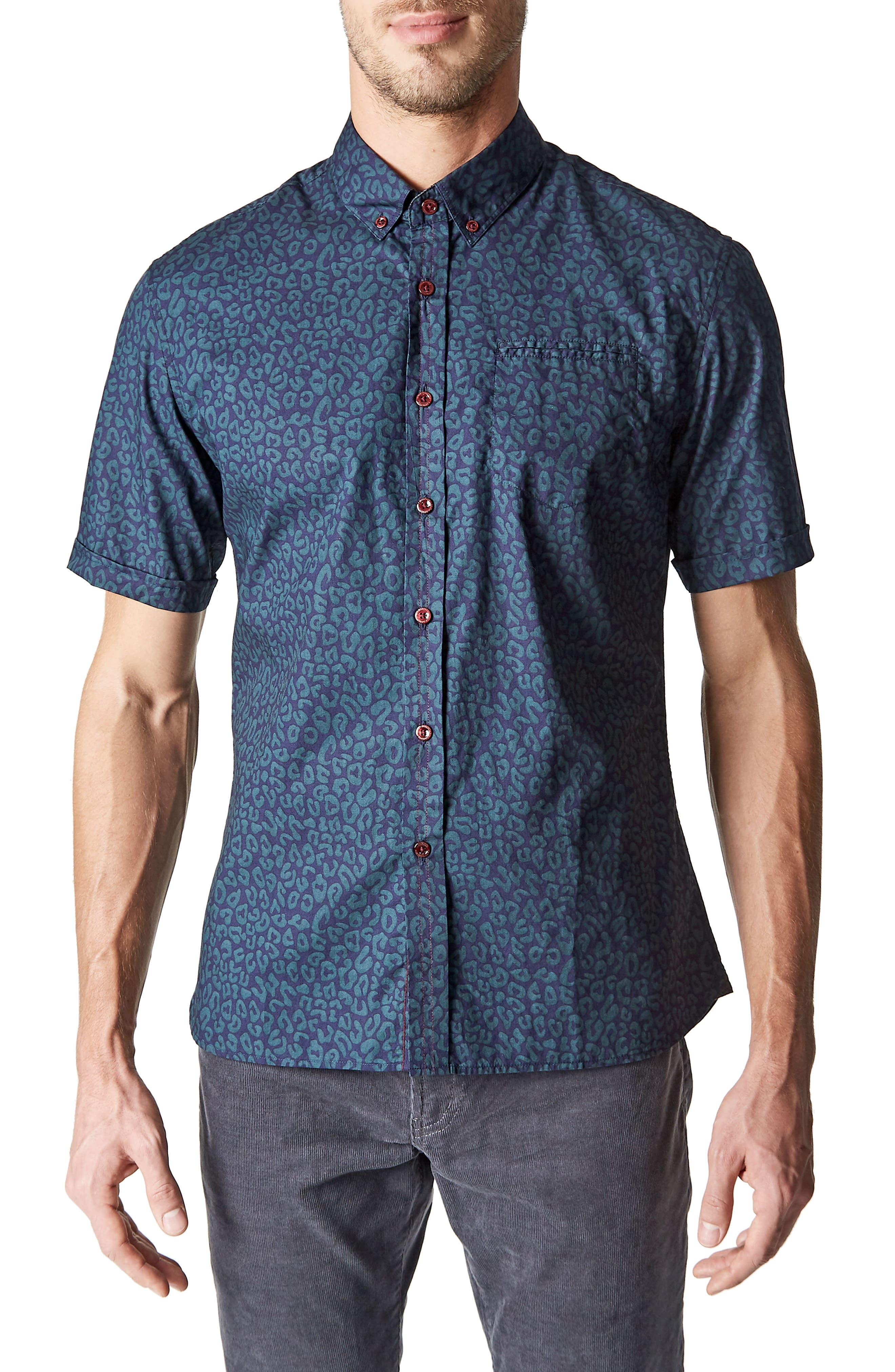 Radio Active Woven Shirt,                             Main thumbnail 1, color,                             400