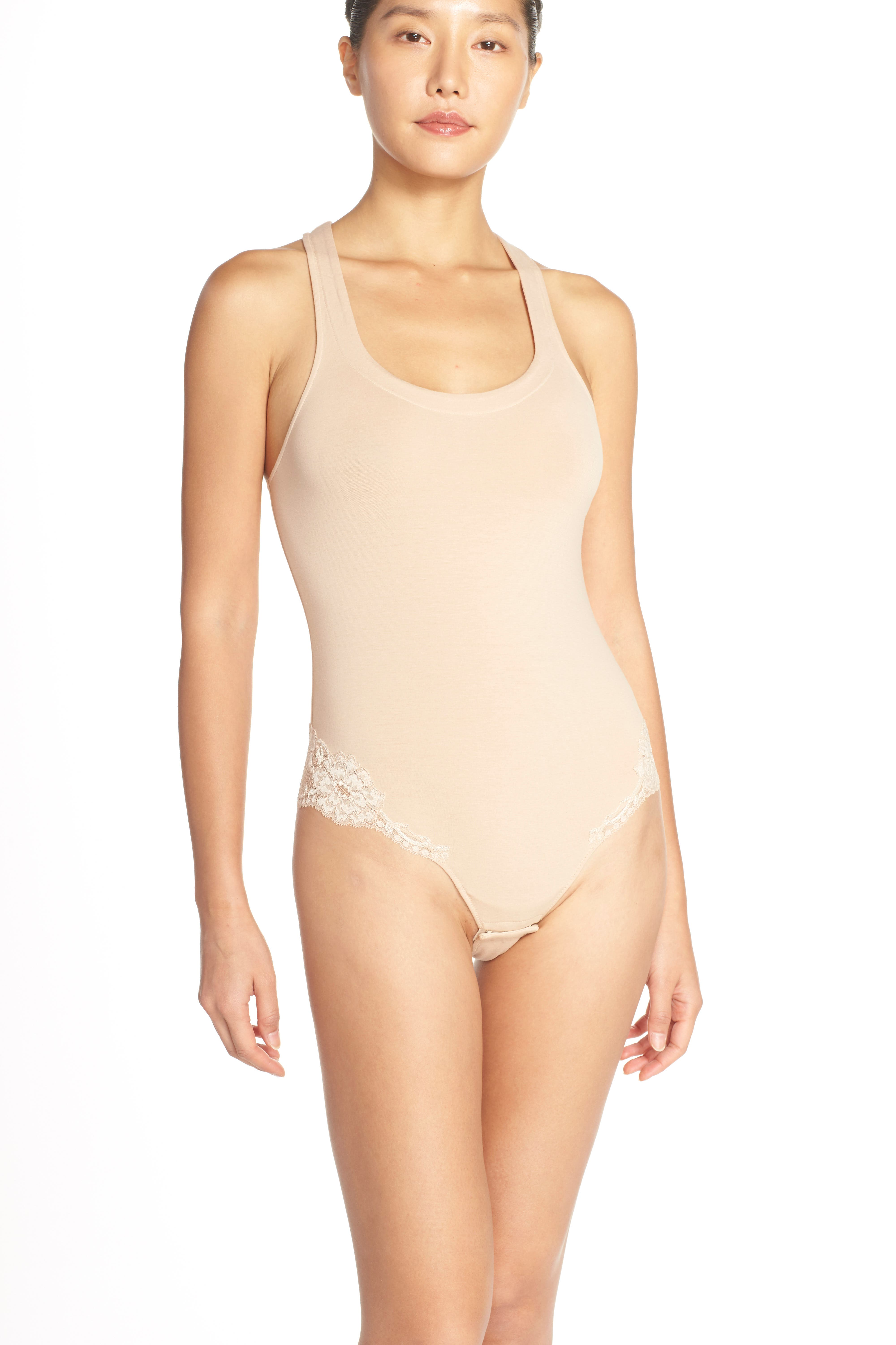 'Spalla Larga' Racerback Bodysuit,                             Alternate thumbnail 10, color,