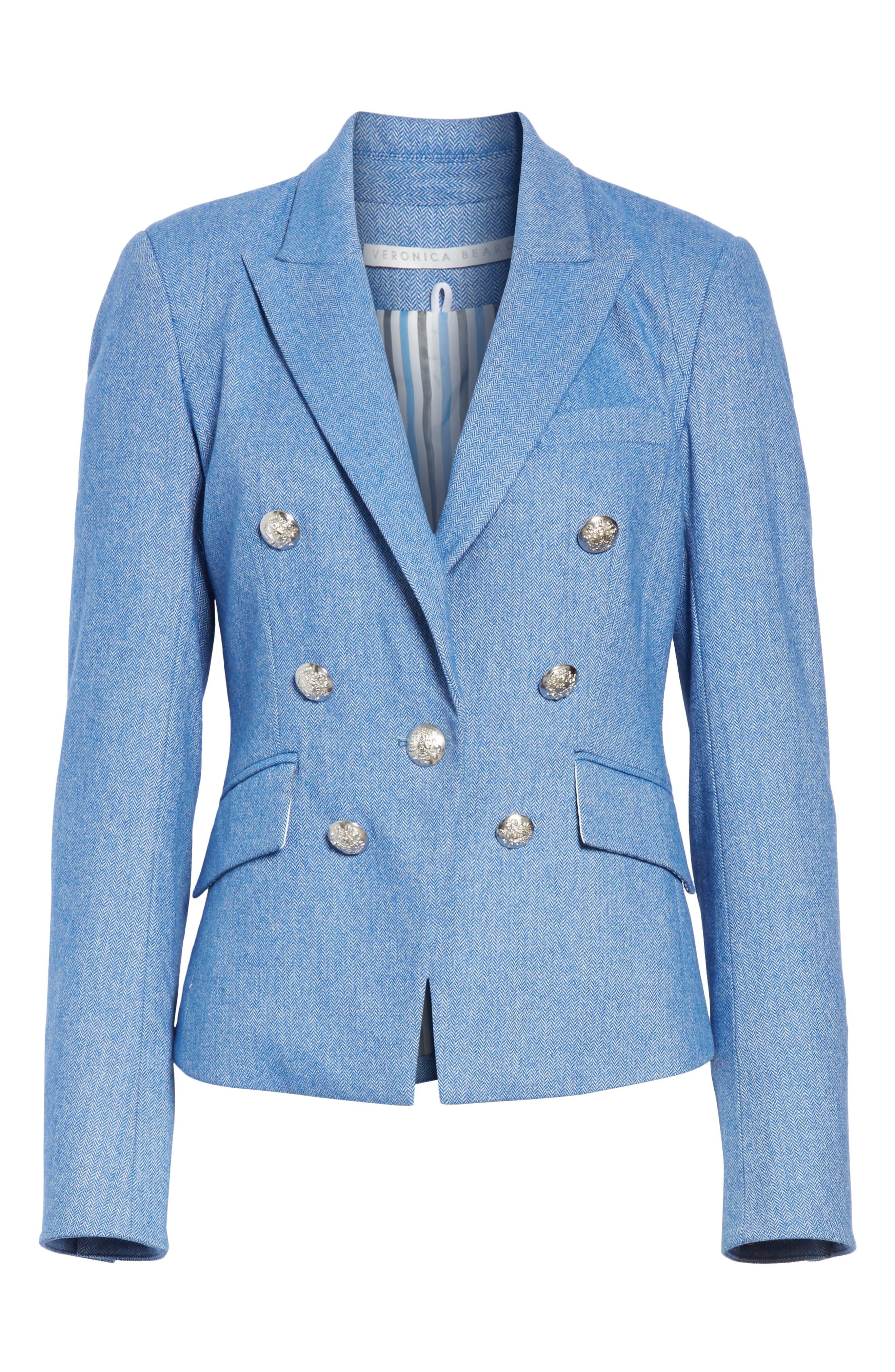 Diego Herringbone Dickey Jacket,                             Main thumbnail 1, color,                             BLUE