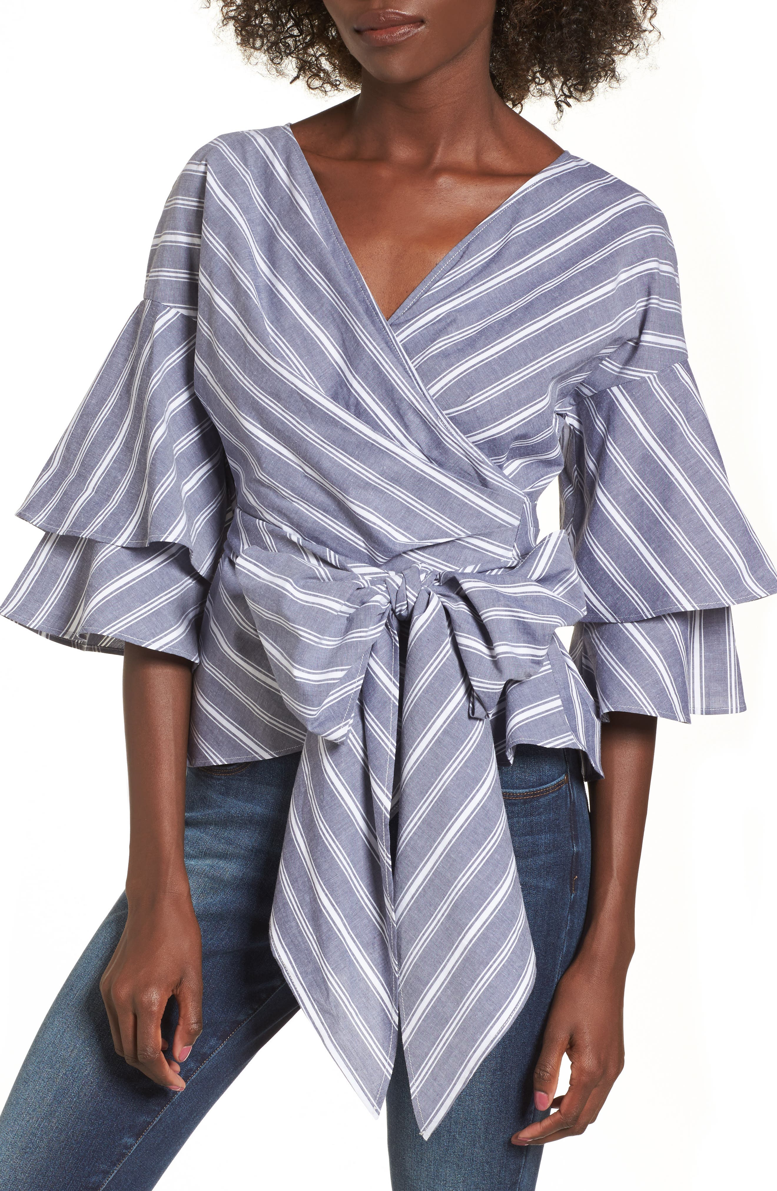Beckett Tiered Bell Sleeve Top,                             Main thumbnail 3, color,