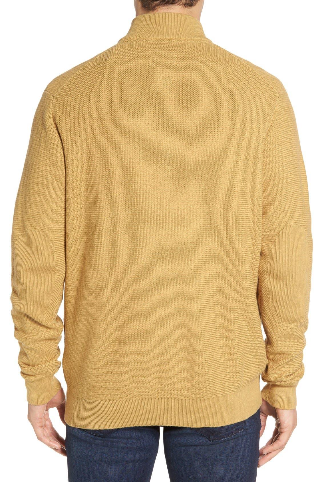 'Benson' Quarter Zip Textured Knit Sweater,                             Alternate thumbnail 12, color,