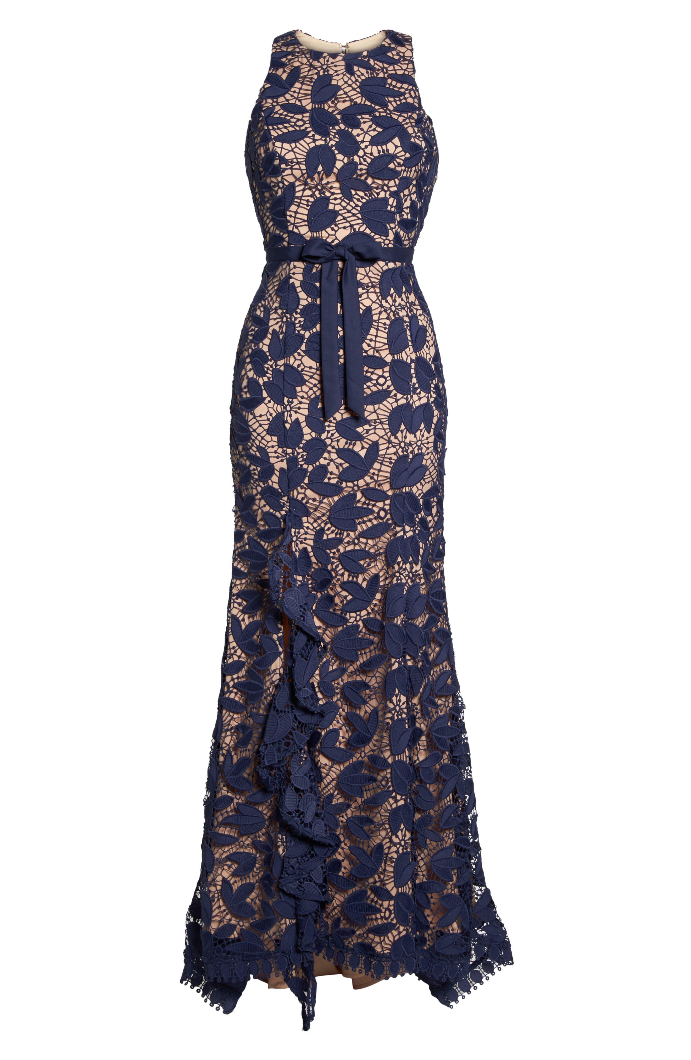 Petal Lace Gown,                             Alternate thumbnail 6, color,                             410