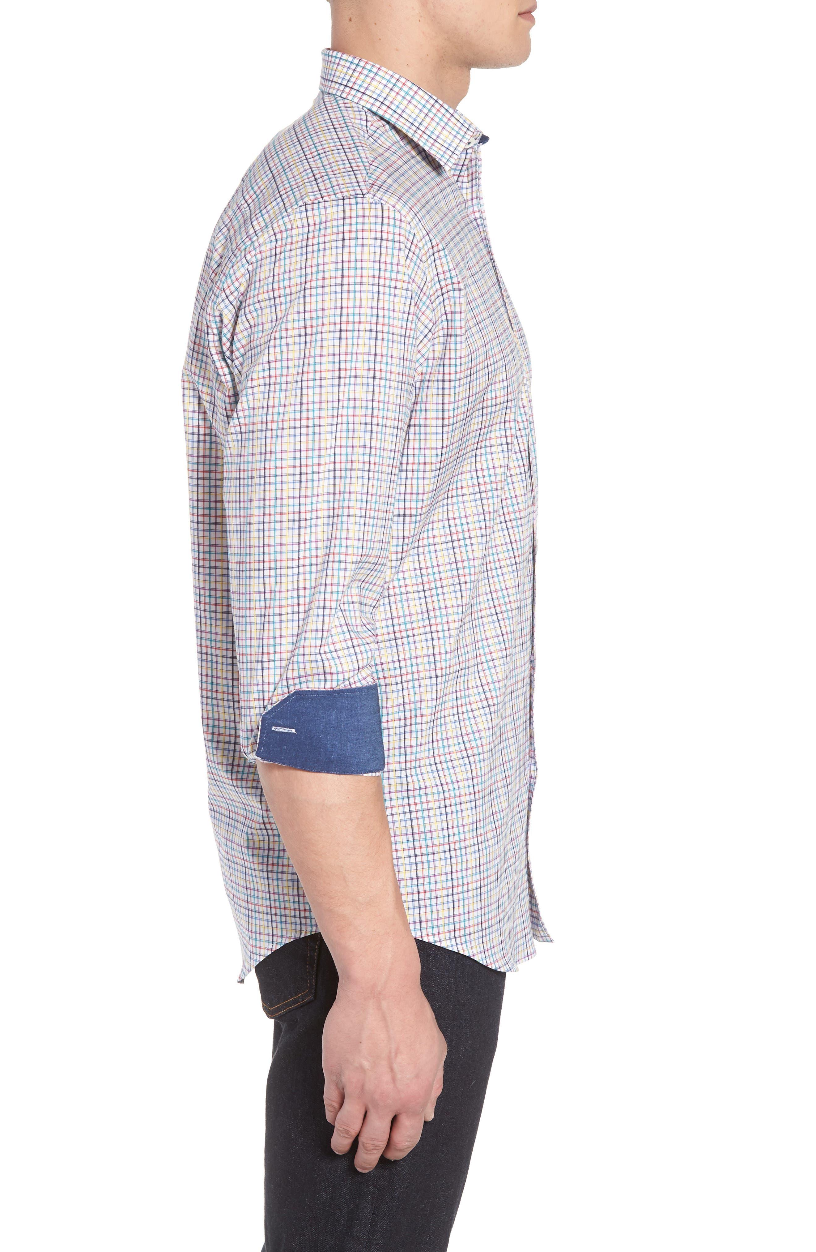 Classic Fit Woven Sport Shirt,                             Alternate thumbnail 3, color,                             601