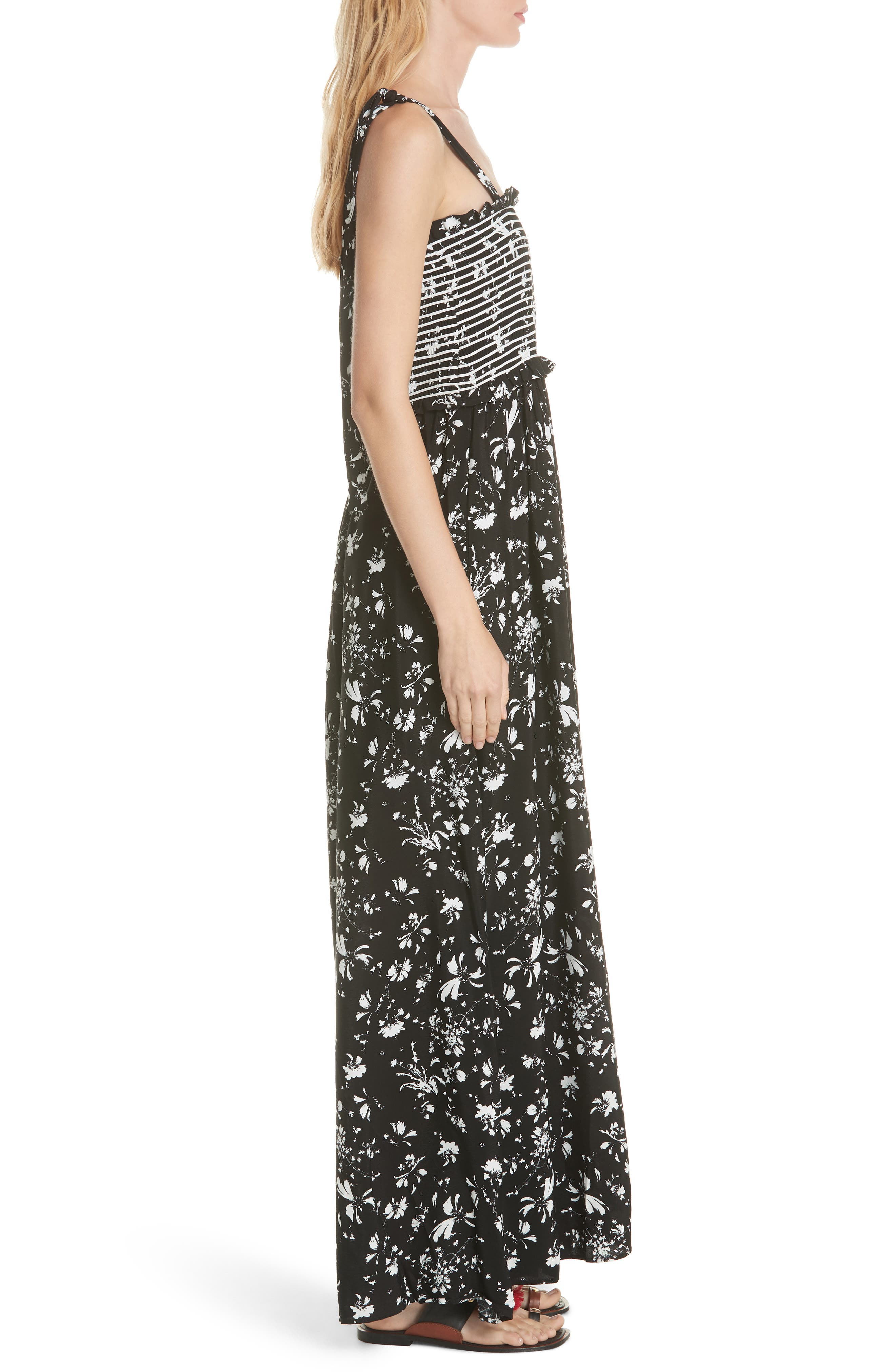 FREE PEOPLE,                             Color My World Floral Jumpsuit,                             Alternate thumbnail 3, color,                             001
