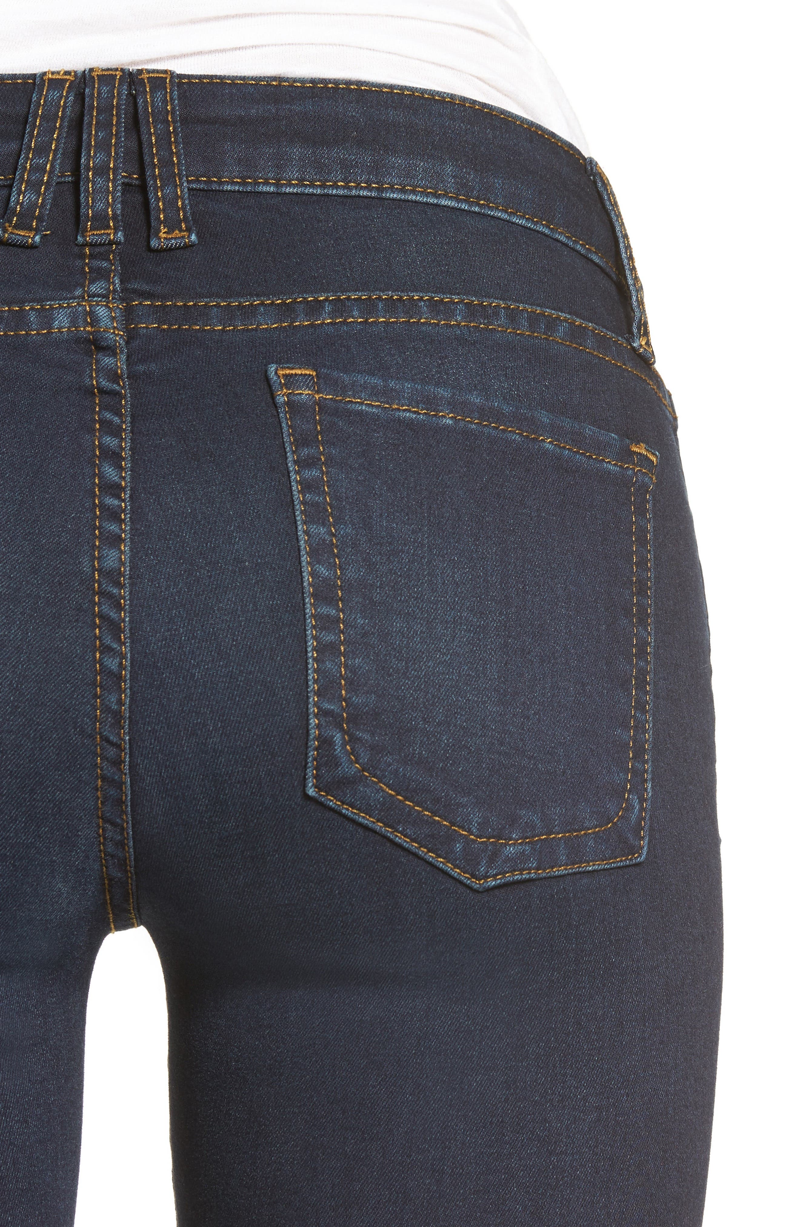 Natalie Stretch Bootleg Jeans,                             Alternate thumbnail 4, color,                             475