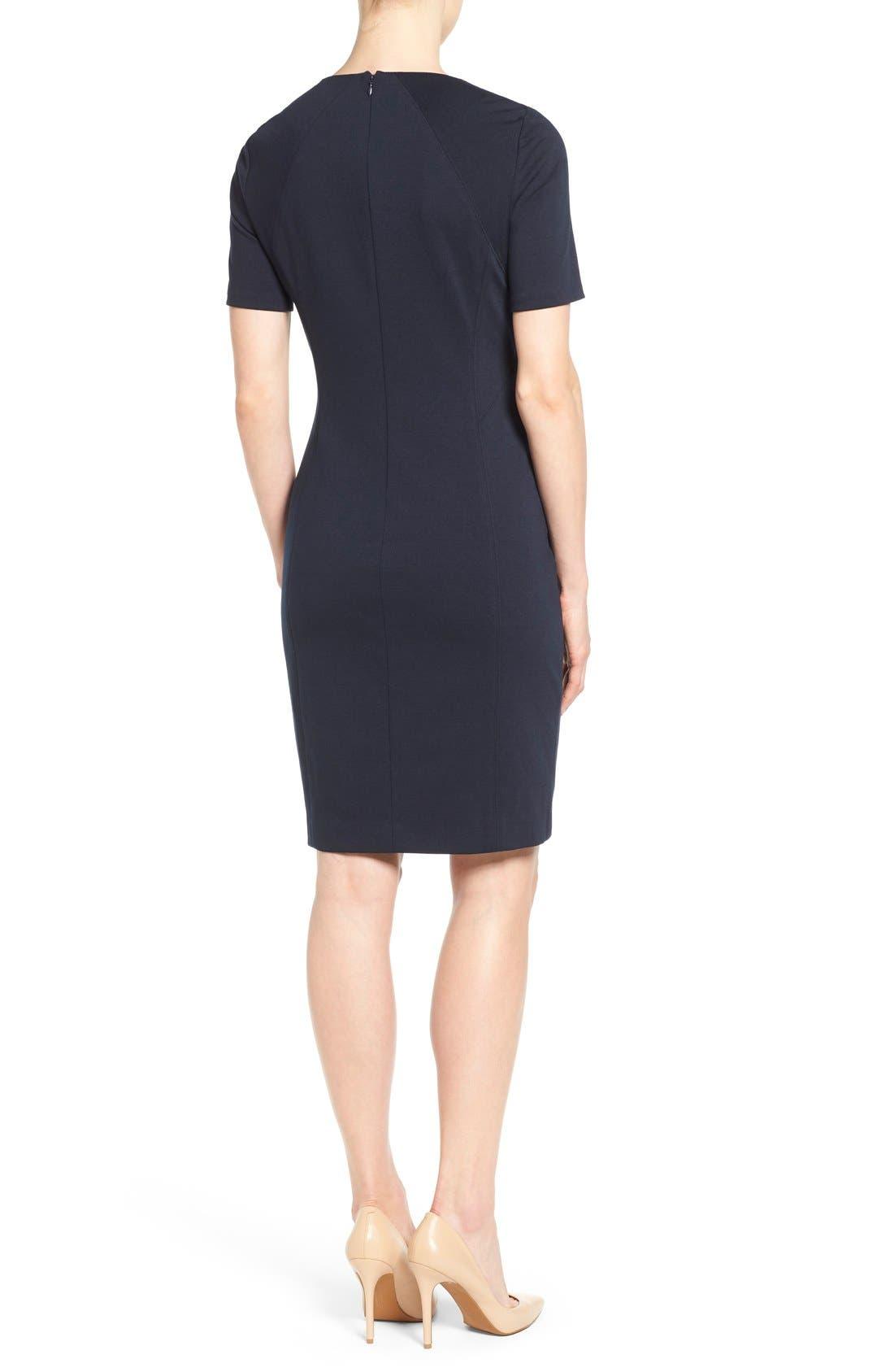 'Judianne' Short Sleeve Sheath Dress,                             Alternate thumbnail 8, color,