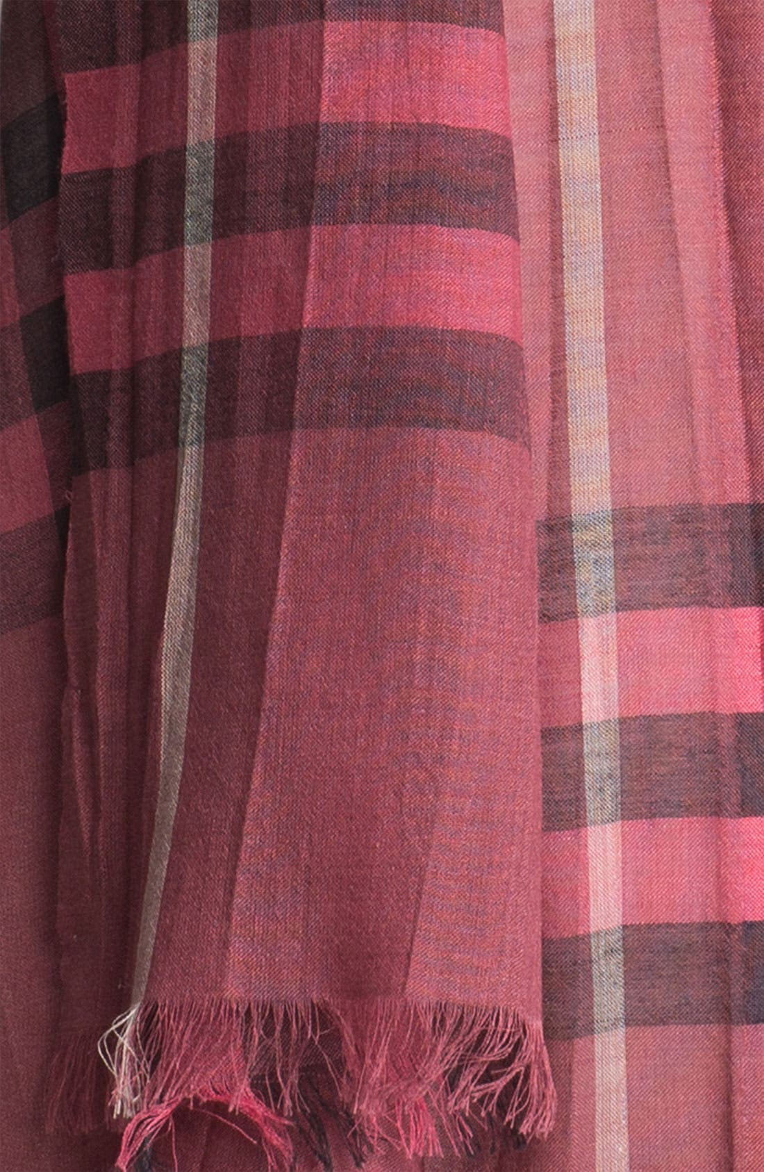 Giant Check Print Wool & Silk Scarf,                             Alternate thumbnail 111, color,