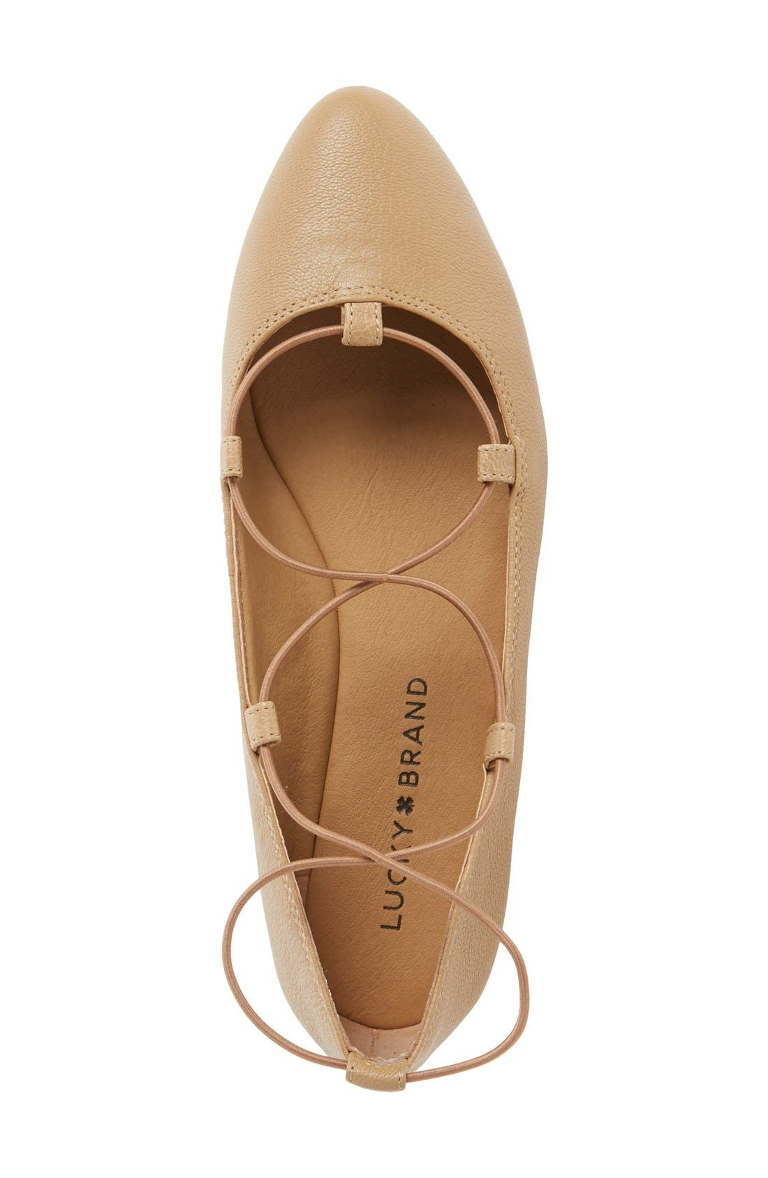 'Aviee' Lace-Up Flat,                             Alternate thumbnail 34, color,