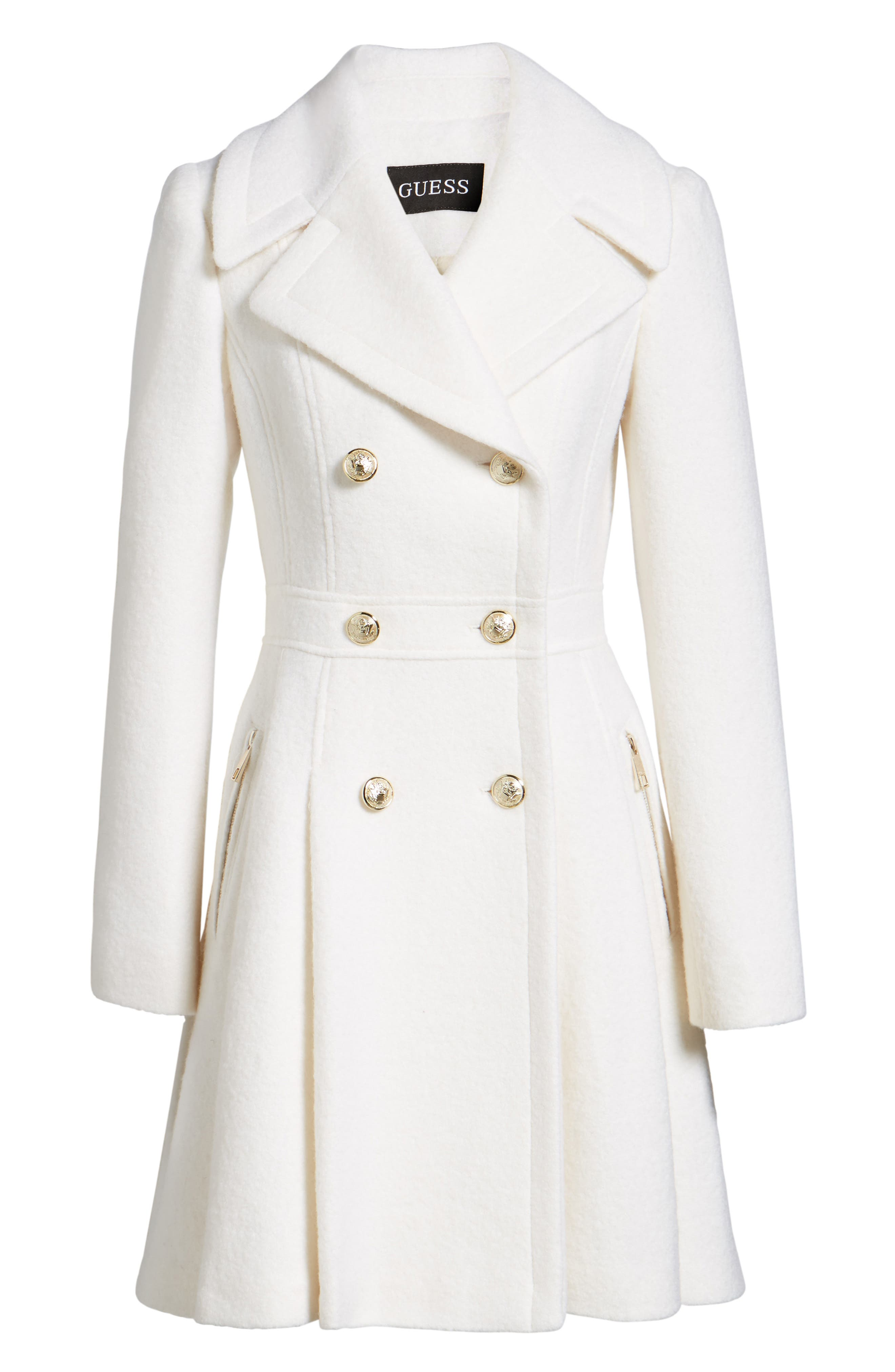 Double Breasted Wool Blend Coat,                             Alternate thumbnail 14, color,
