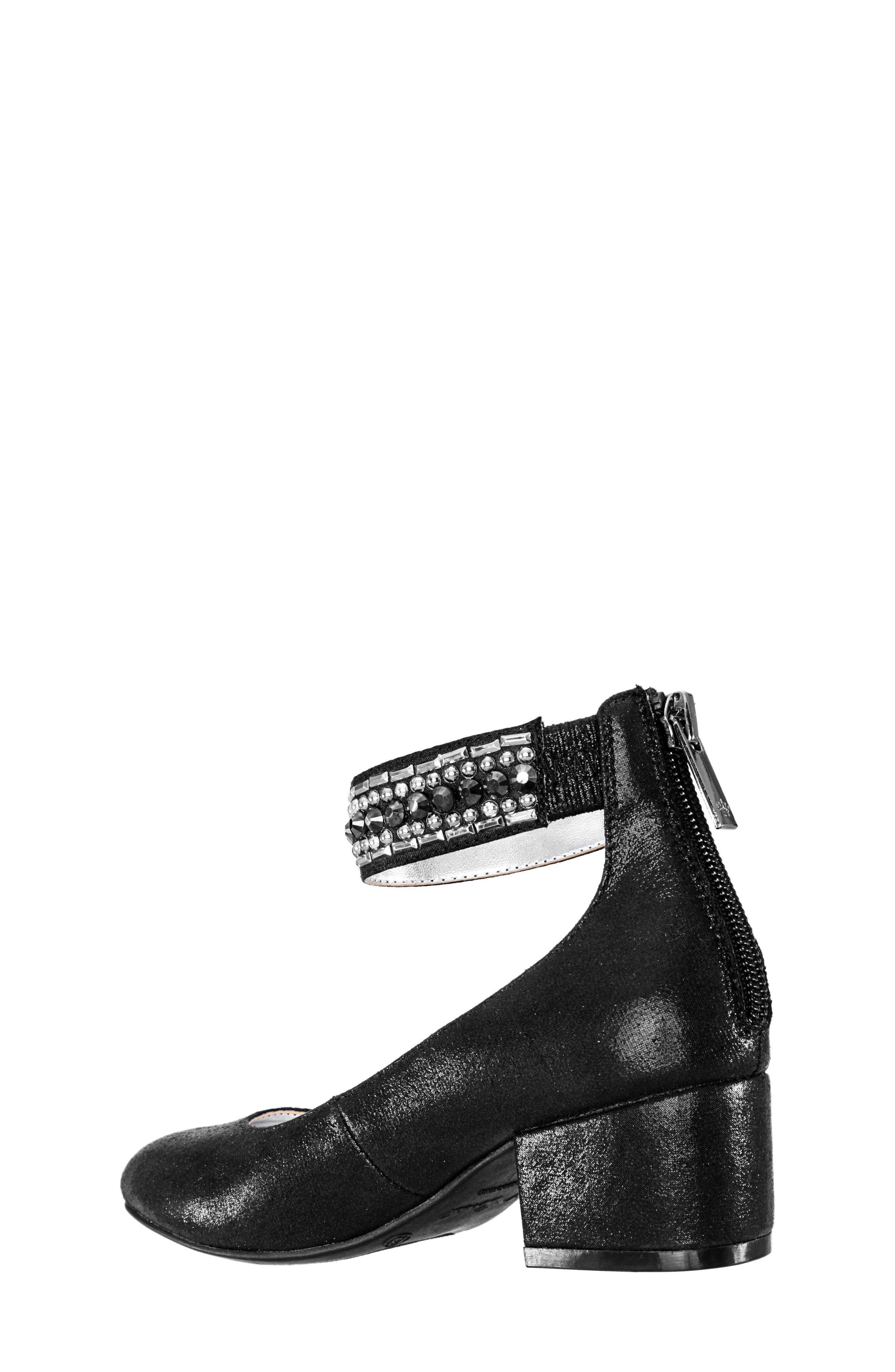 Charleen Ankle Strap Pump,                             Alternate thumbnail 2, color,                             BLACK SHIMMER FABRIC