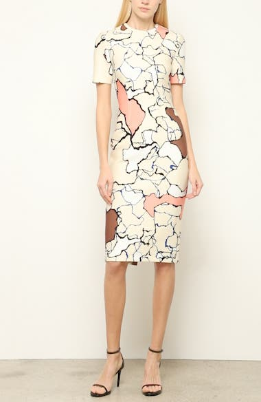 Terrazzo Print Scuba Dress, video thumbnail