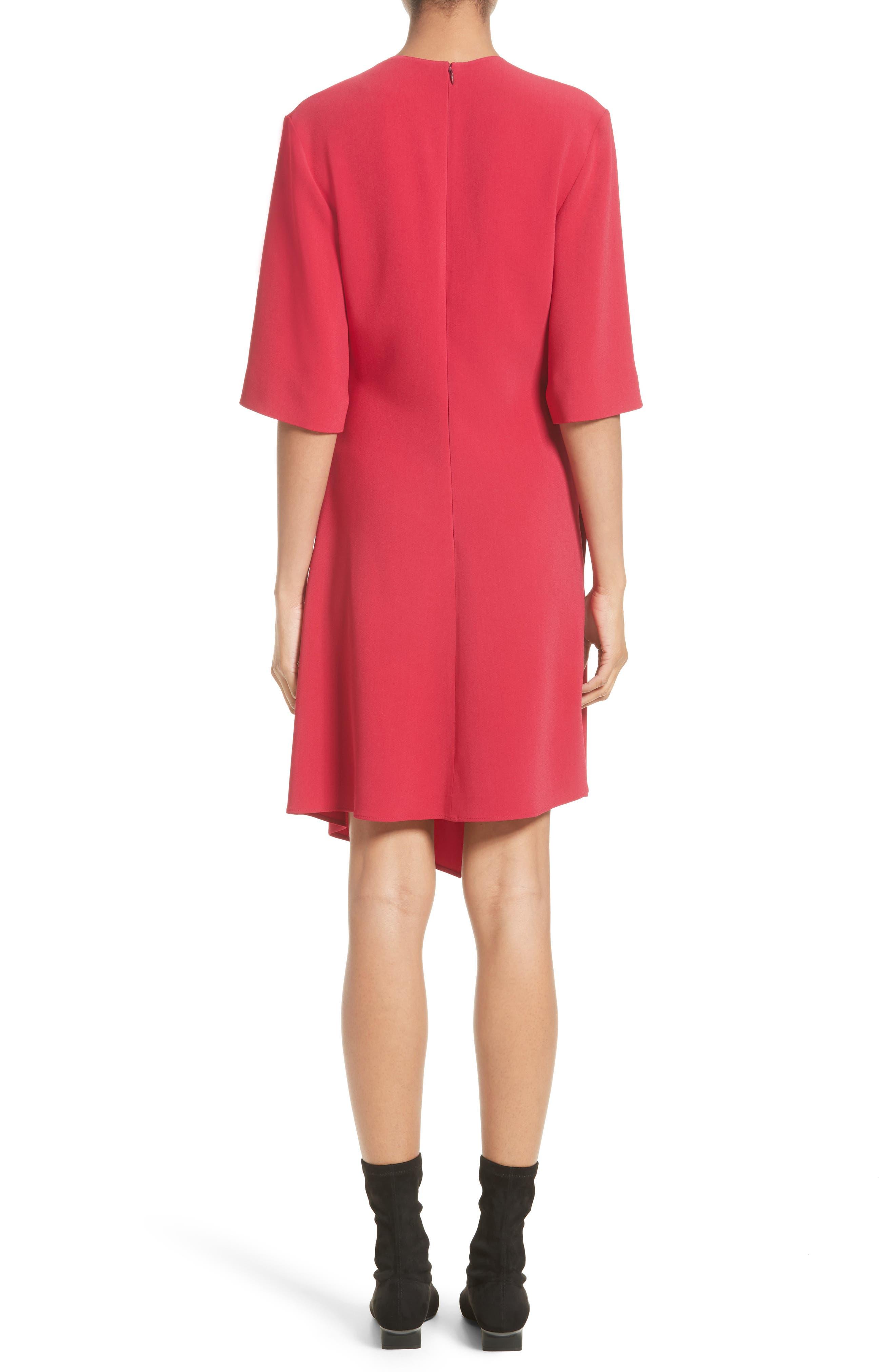 Draped Stretch Cady Dress,                             Alternate thumbnail 2, color,                             650