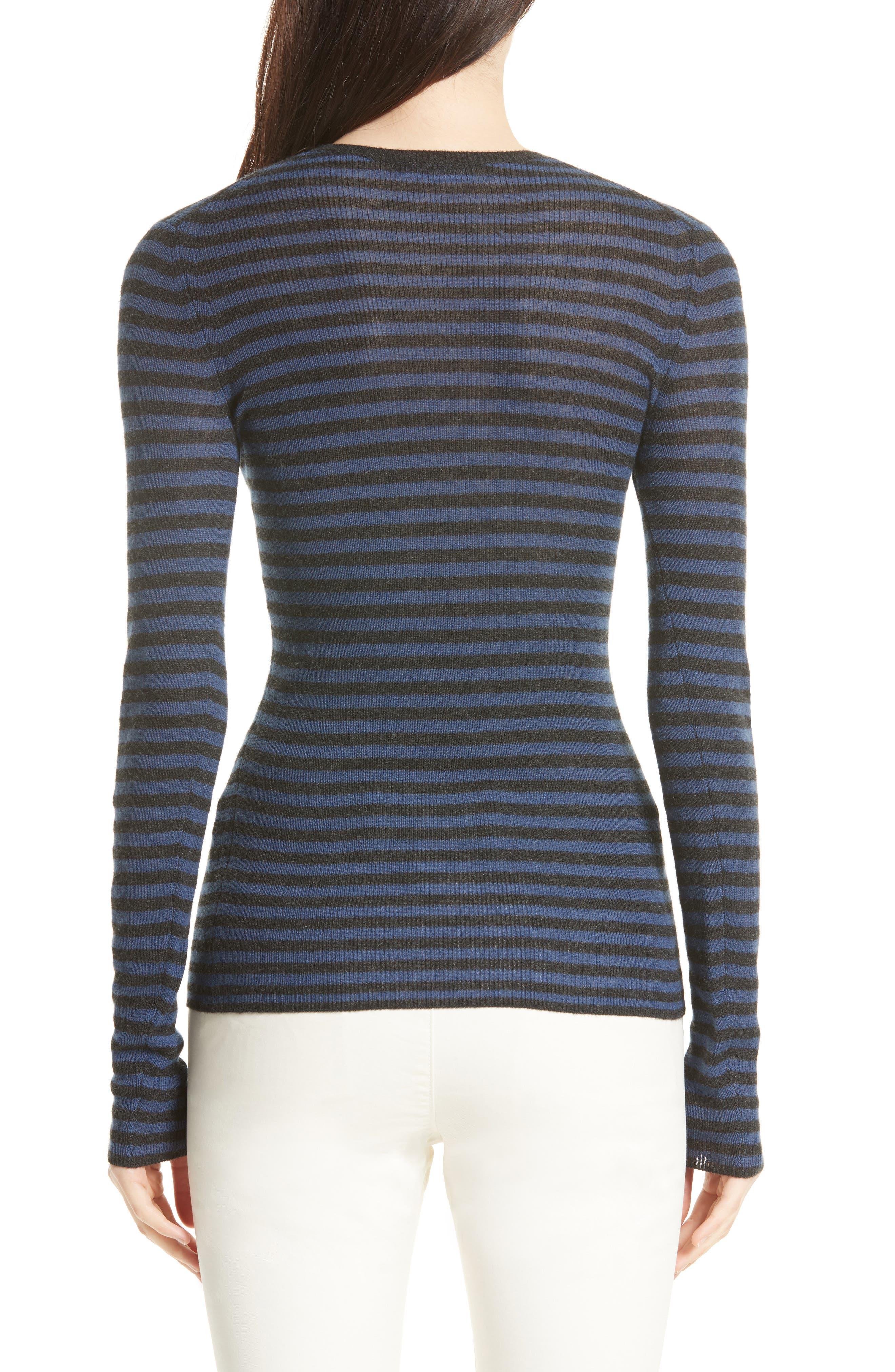 Stripe Cashmere Sweater,                             Alternate thumbnail 2, color,                             472