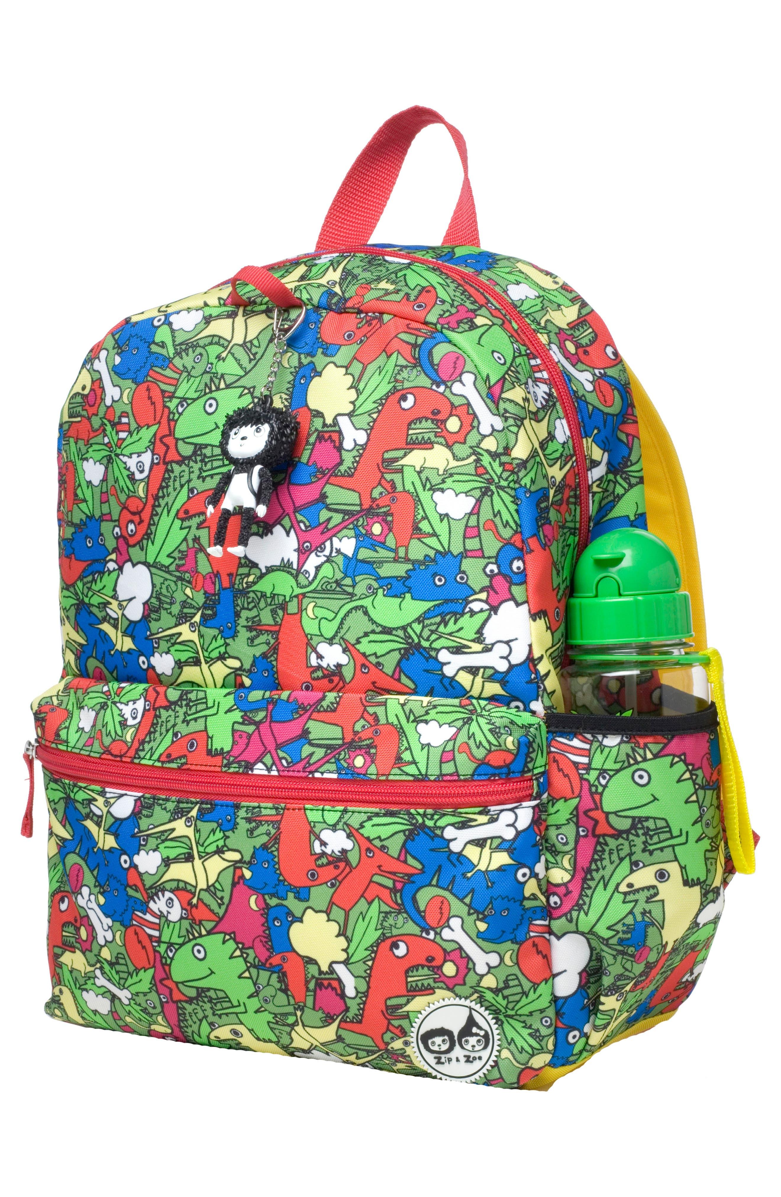 Zip & Zoe Dino Junior Backpack,                             Alternate thumbnail 4, color,                             DINO