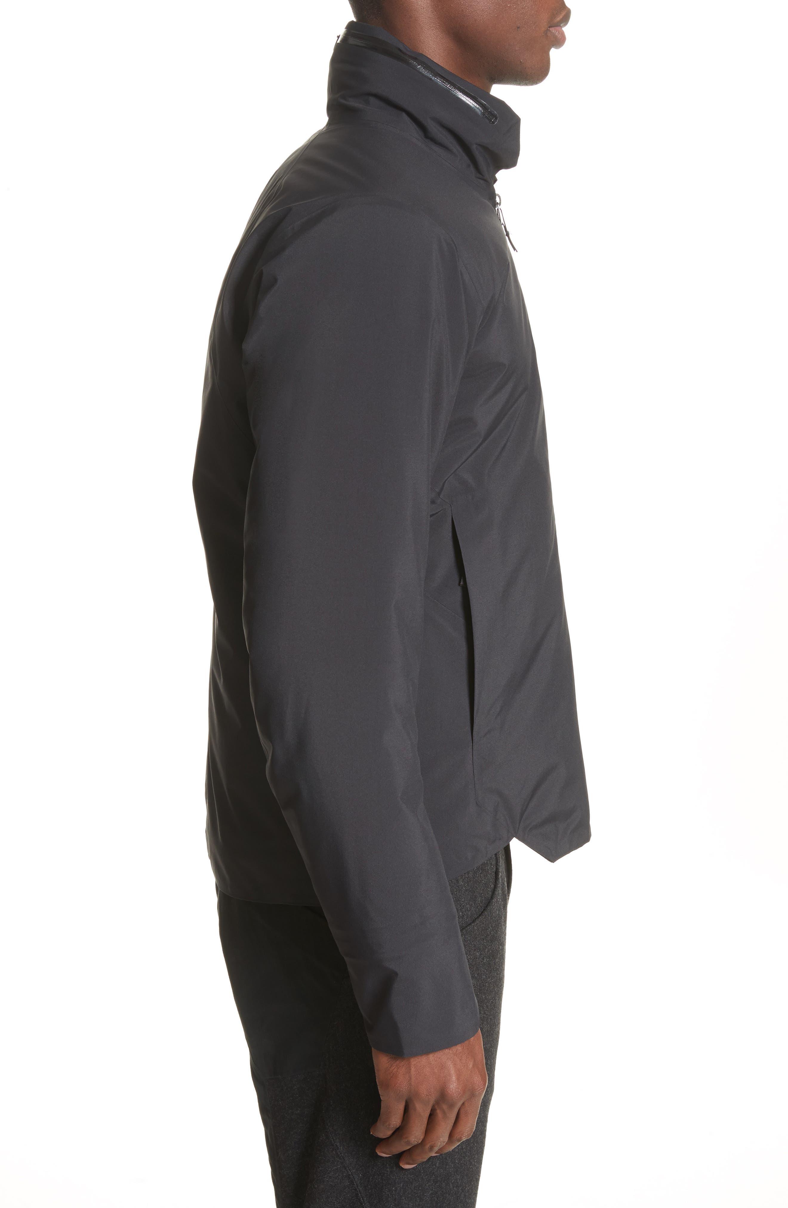 Achrom Waterproof Jacket,                             Alternate thumbnail 3, color,                             001